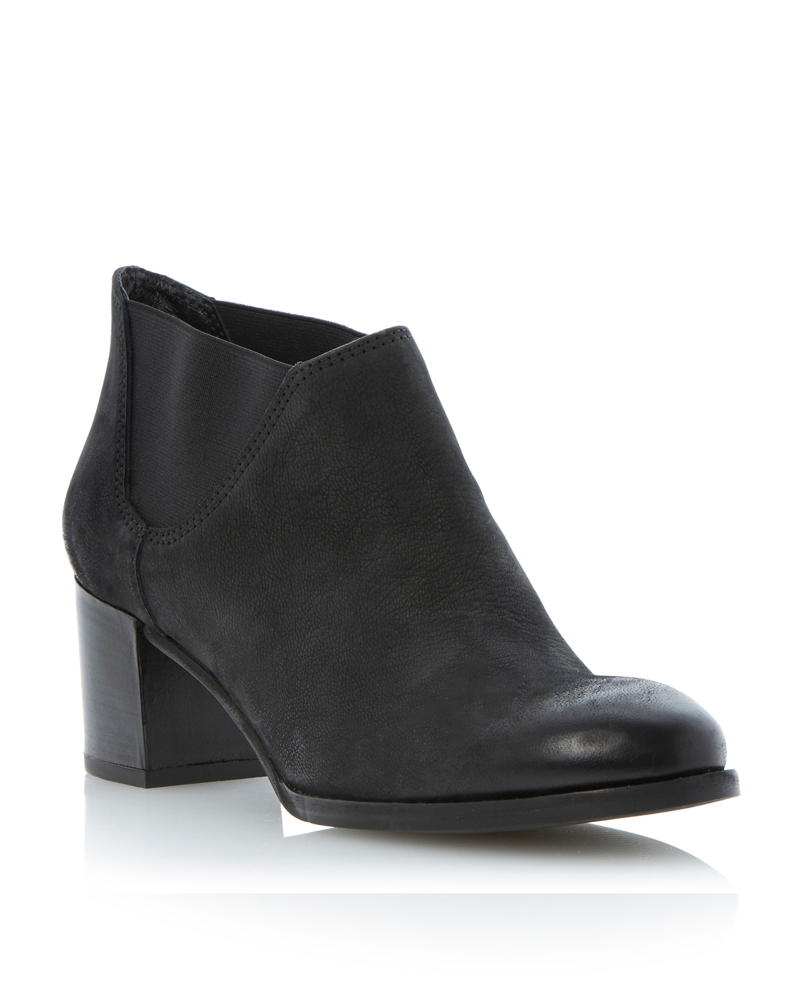 Padova leather block heel chelsea boots