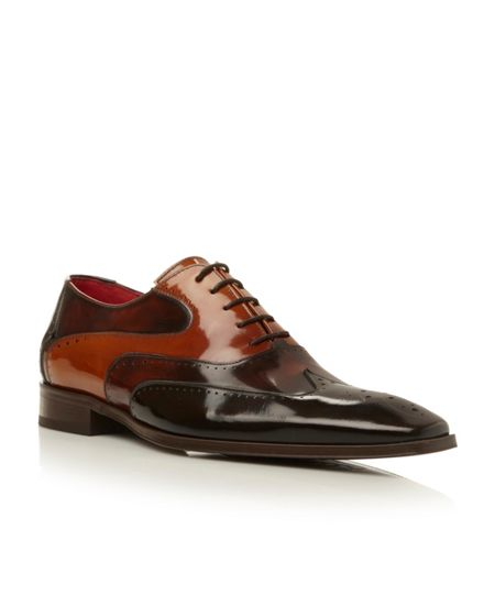 Jeffery West J720 lace up tri-colour wingtip oxford shoes