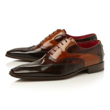 J720 lace up tri-colour wingtip oxford shoes