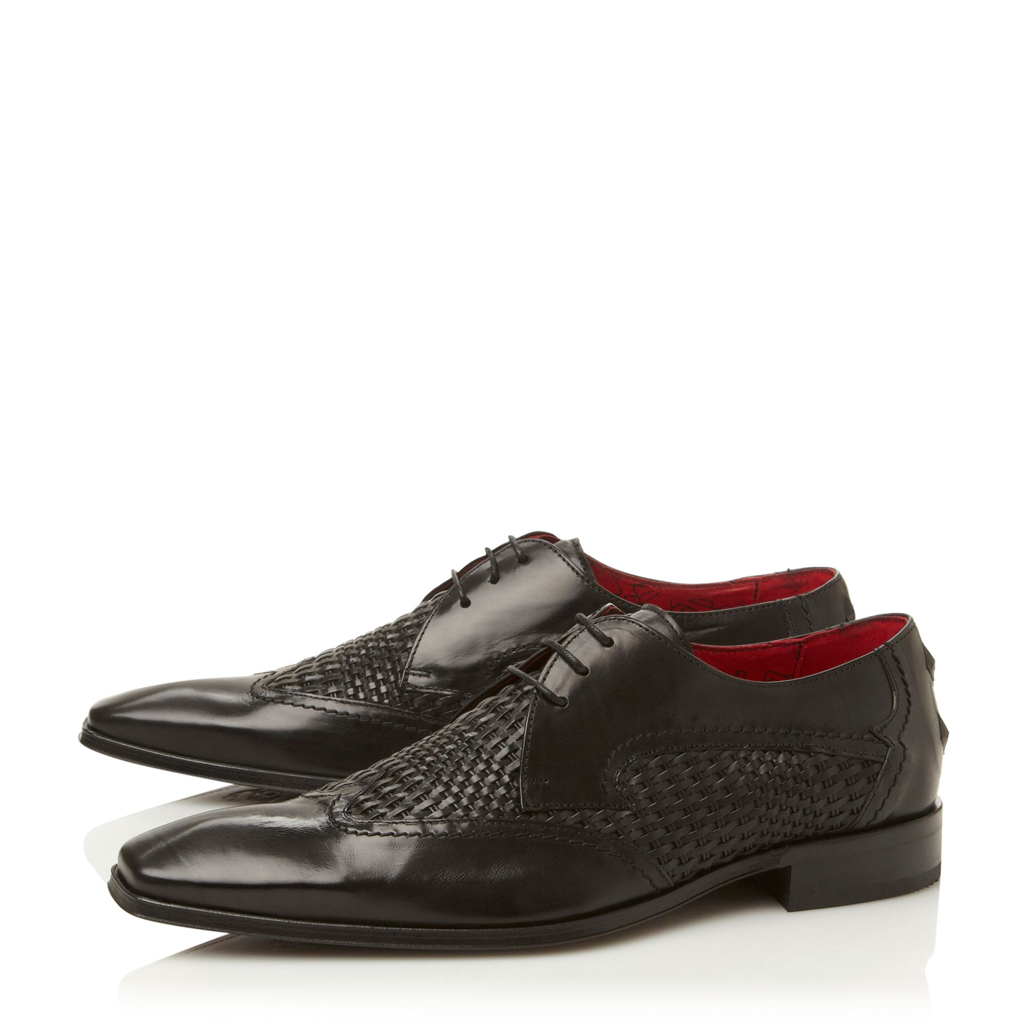 J748 lace up weave vamp wingtip shoes