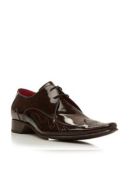 J763 lace up laser swirl wingtip gibson shoes