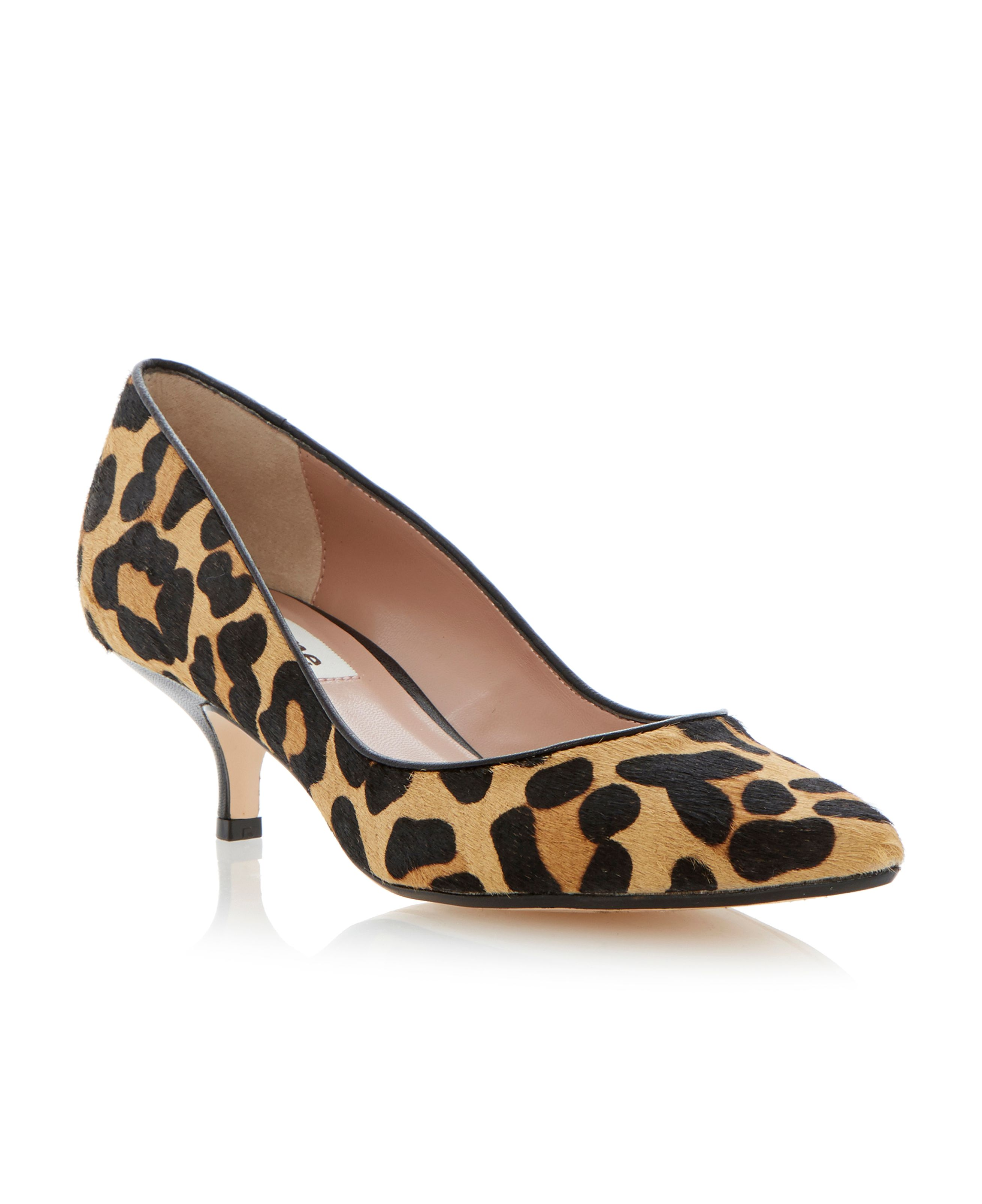 Alfa kitten heel court shoes