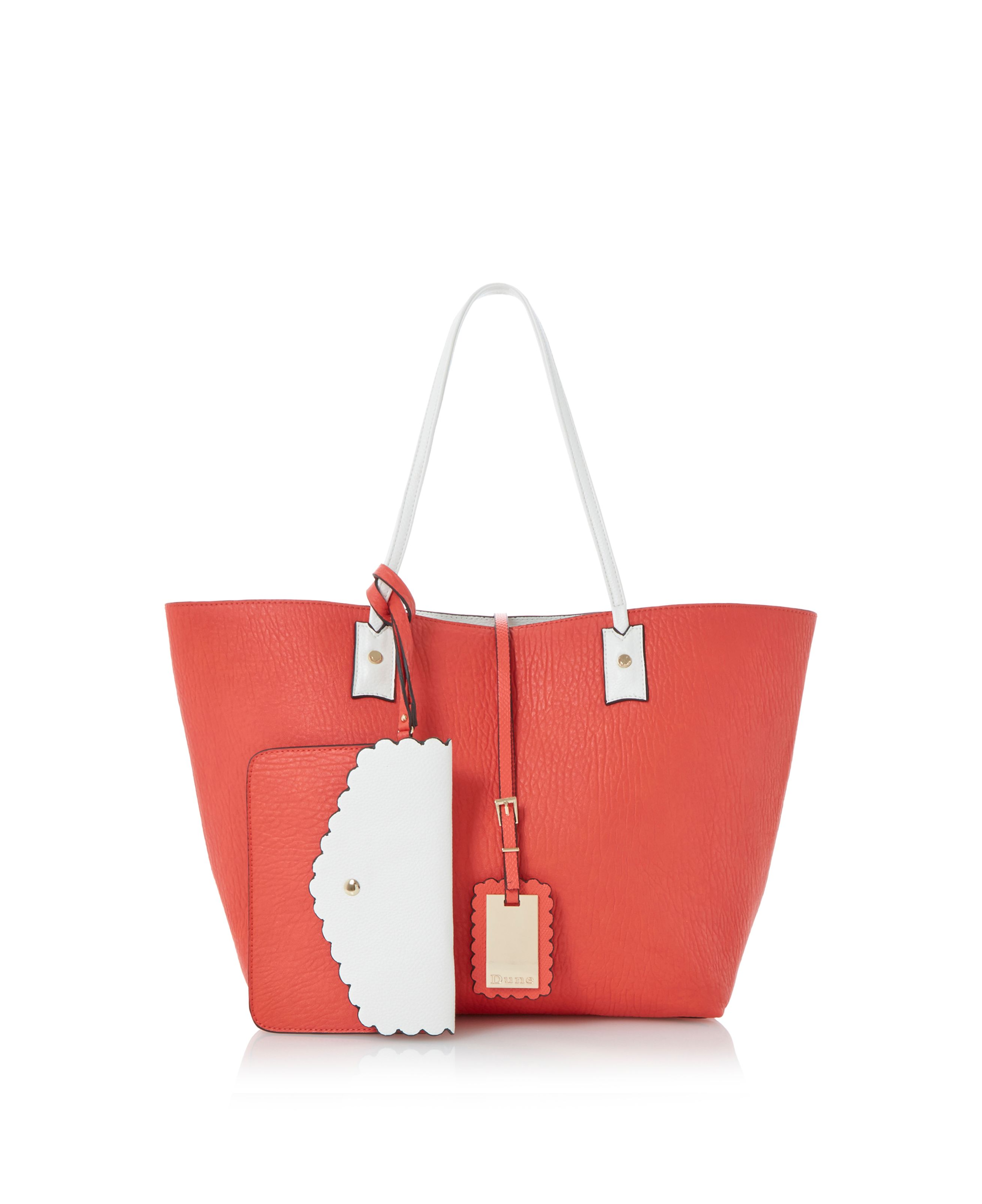 Dallop scalloped detail reversible shopper bag