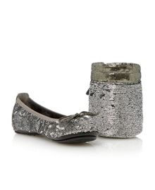 Manhattan sequin flat round toe ballerina shoes