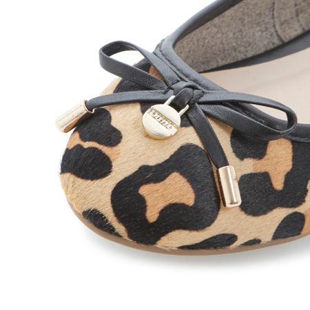 Dune Malmo pony almond toe ballerina shoes