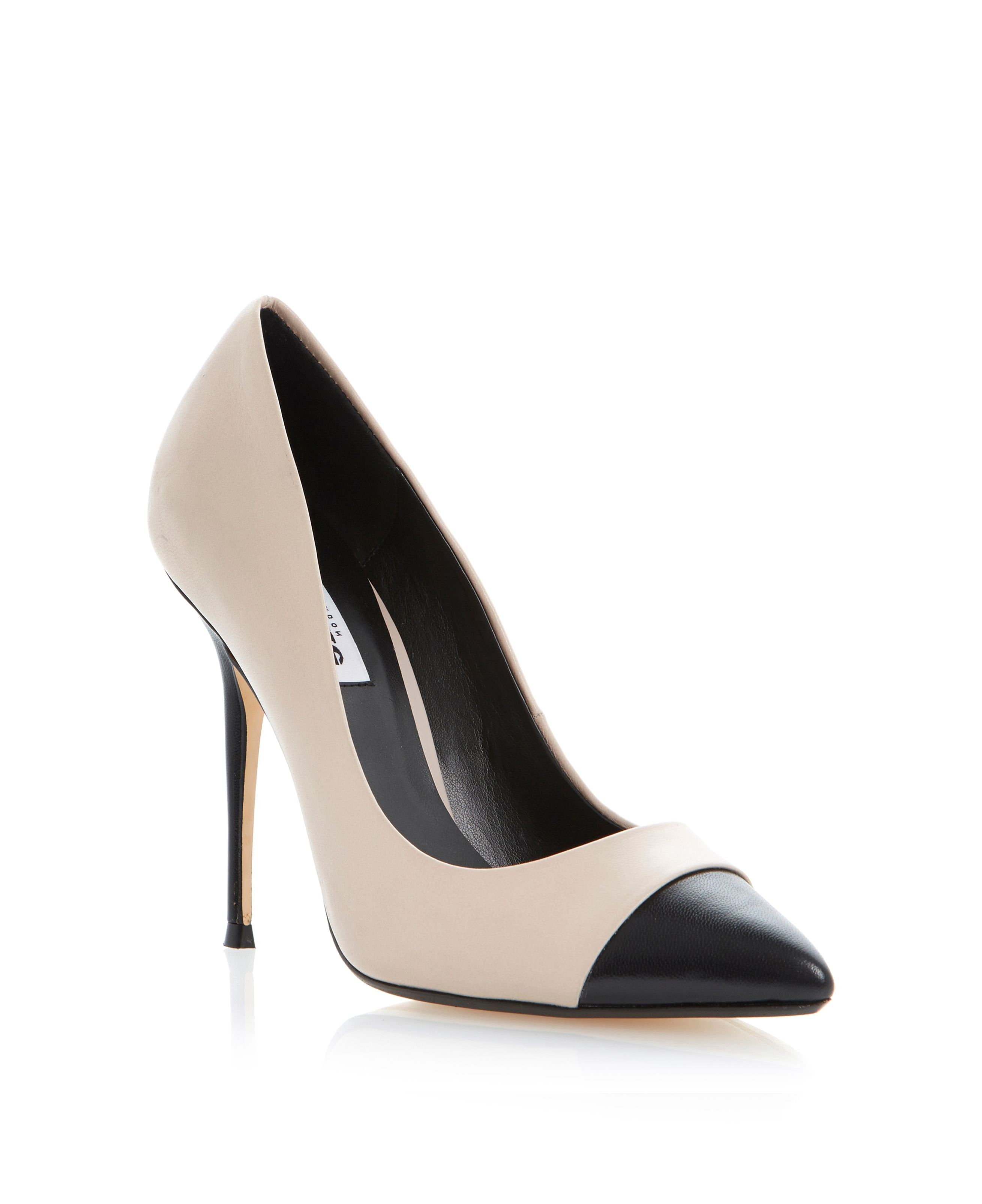 Alesha contrasting pointed toe court shoes