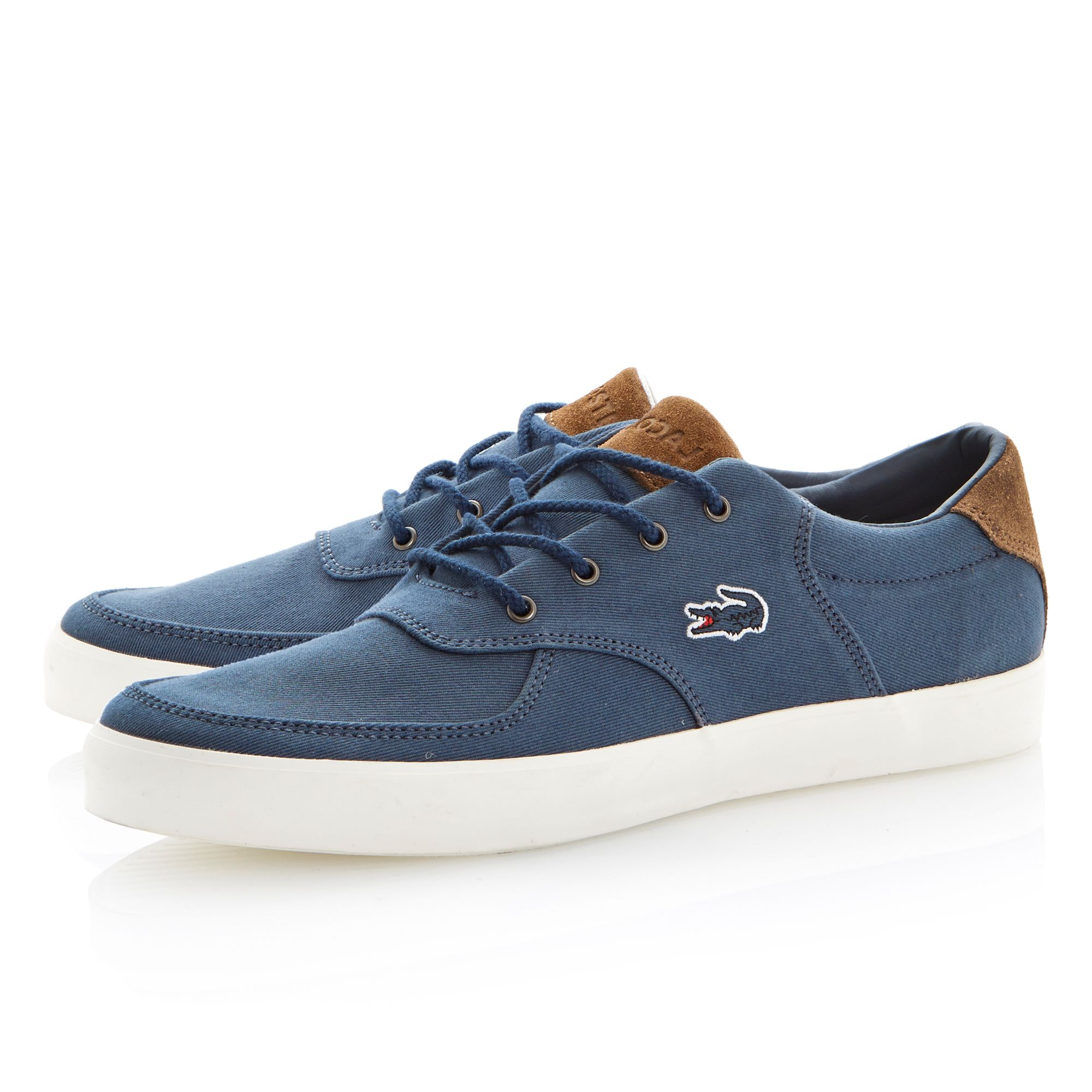 Glendon 8 lace up contrast trainers
