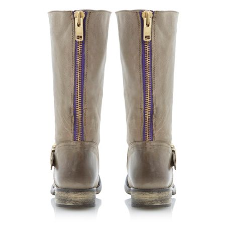 Steve Madden Fyzzle buckle trim leather calf boots