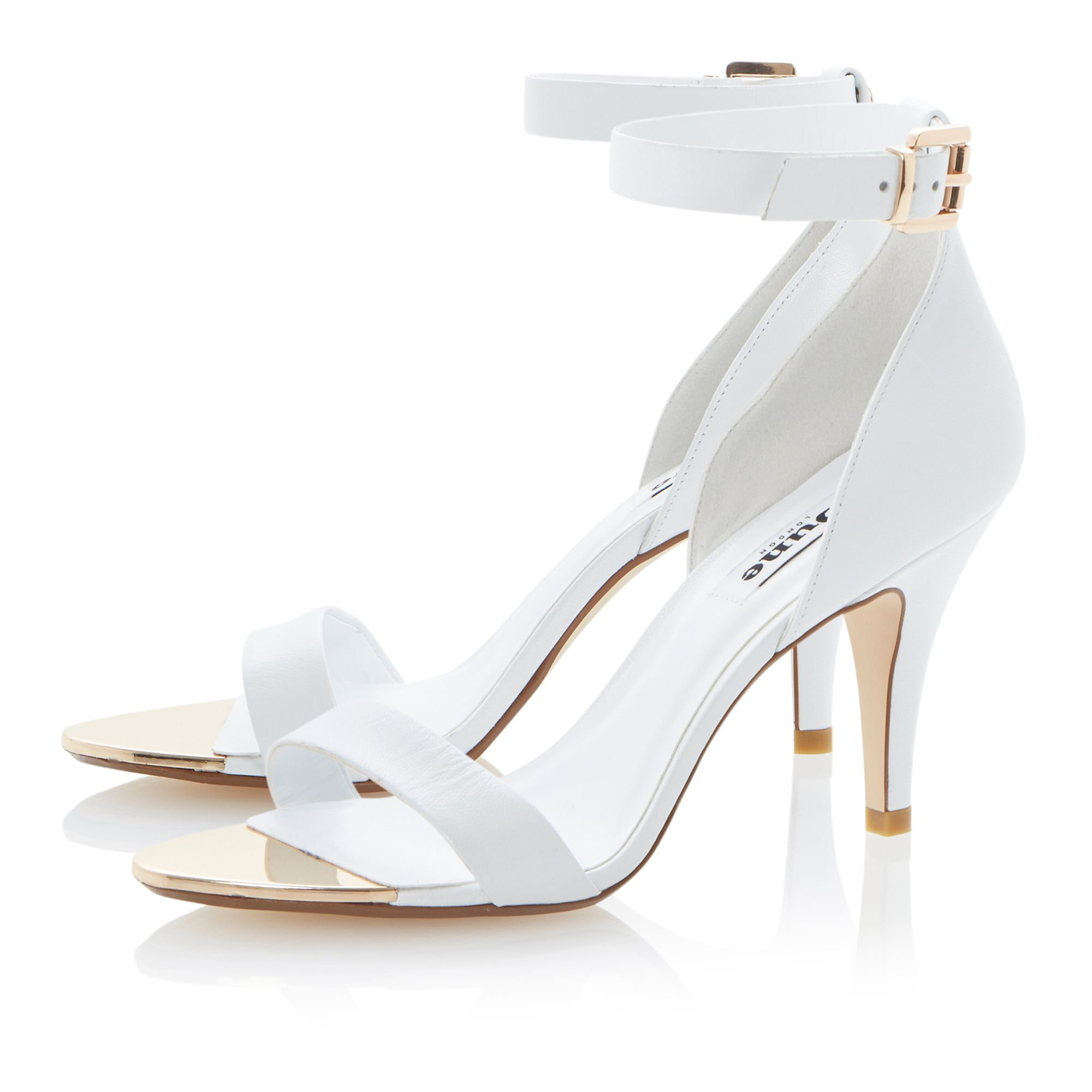Hunnie leather ankle strap heeled sandals
