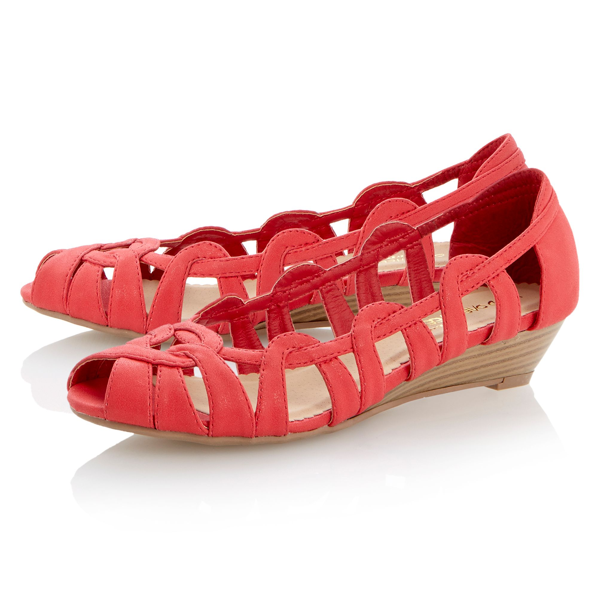 Moxy peeptoe mini wedge ballerina shoes