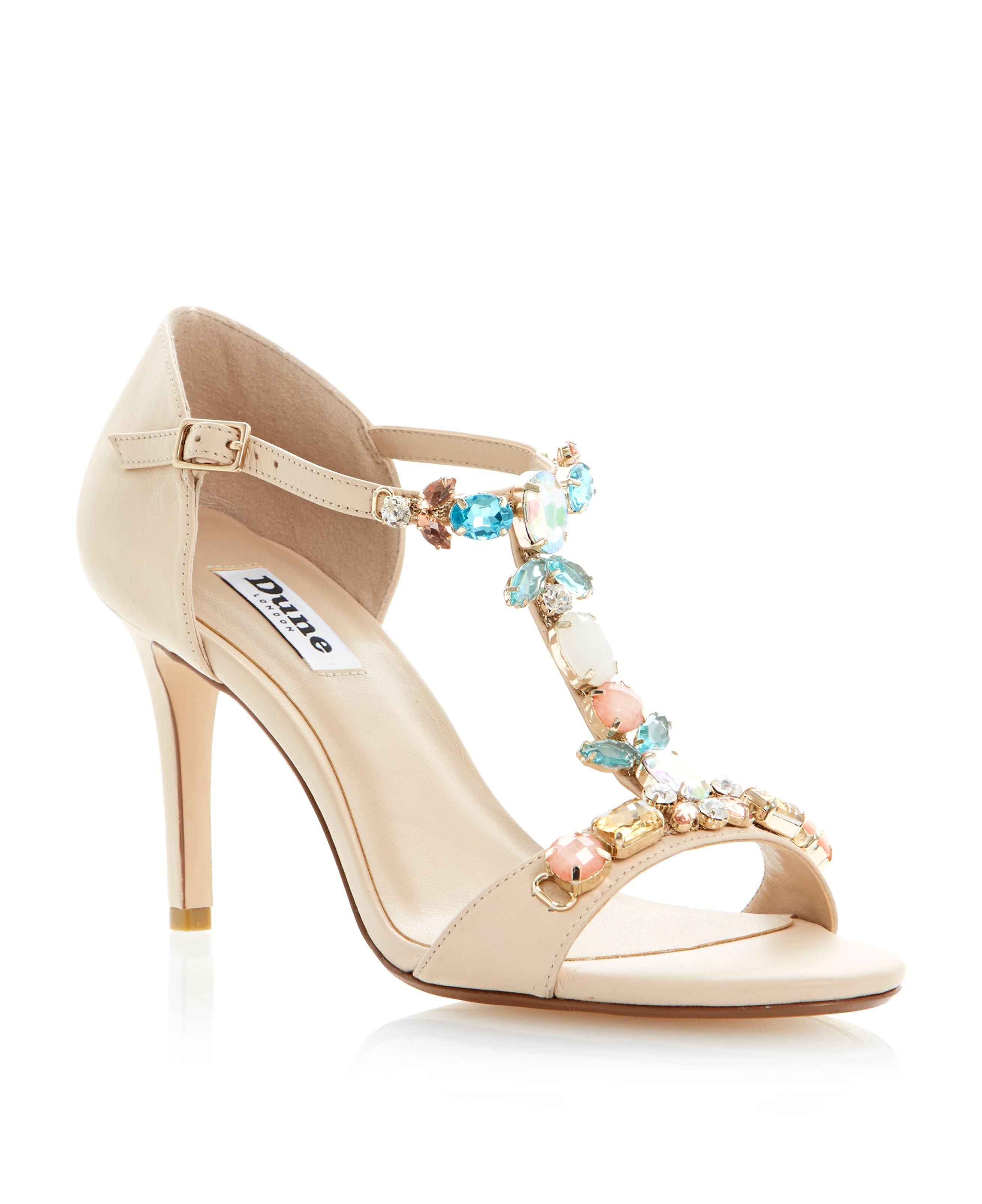 Hummingbird jewelled leather stiletto sandals