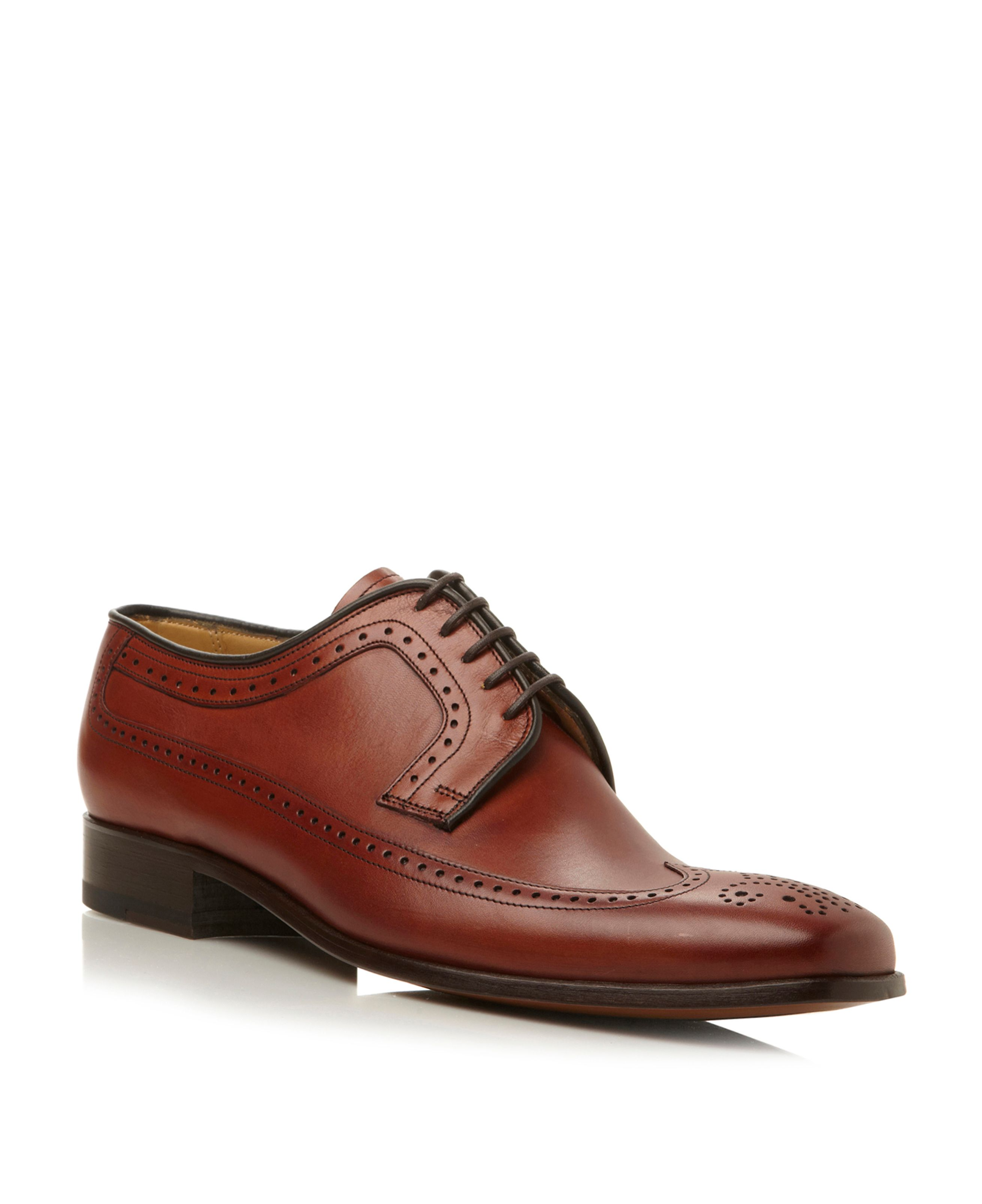 Redhill lace up flexi wingtip gibson shoes