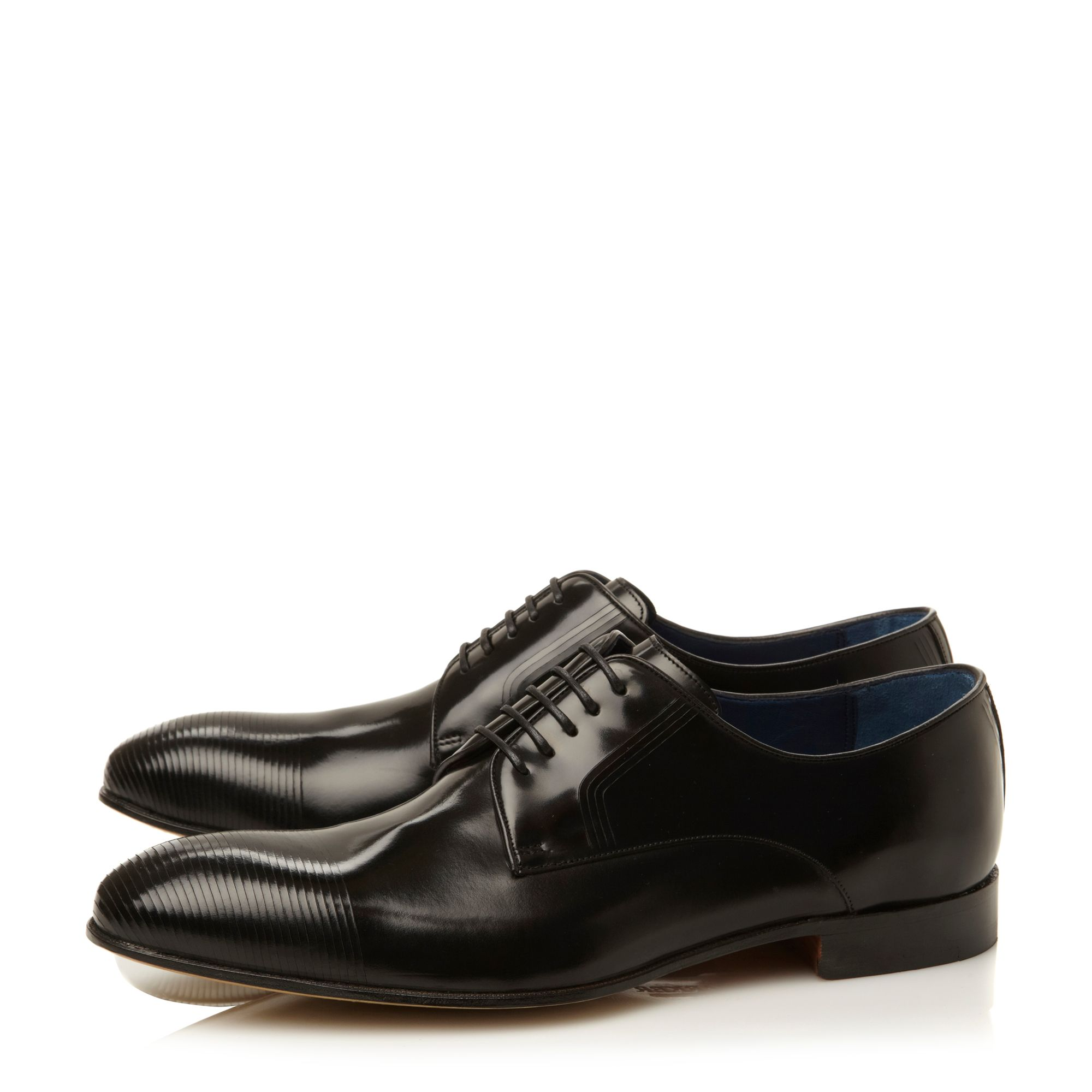 Marlowe lace up laser stripe gibson shoes