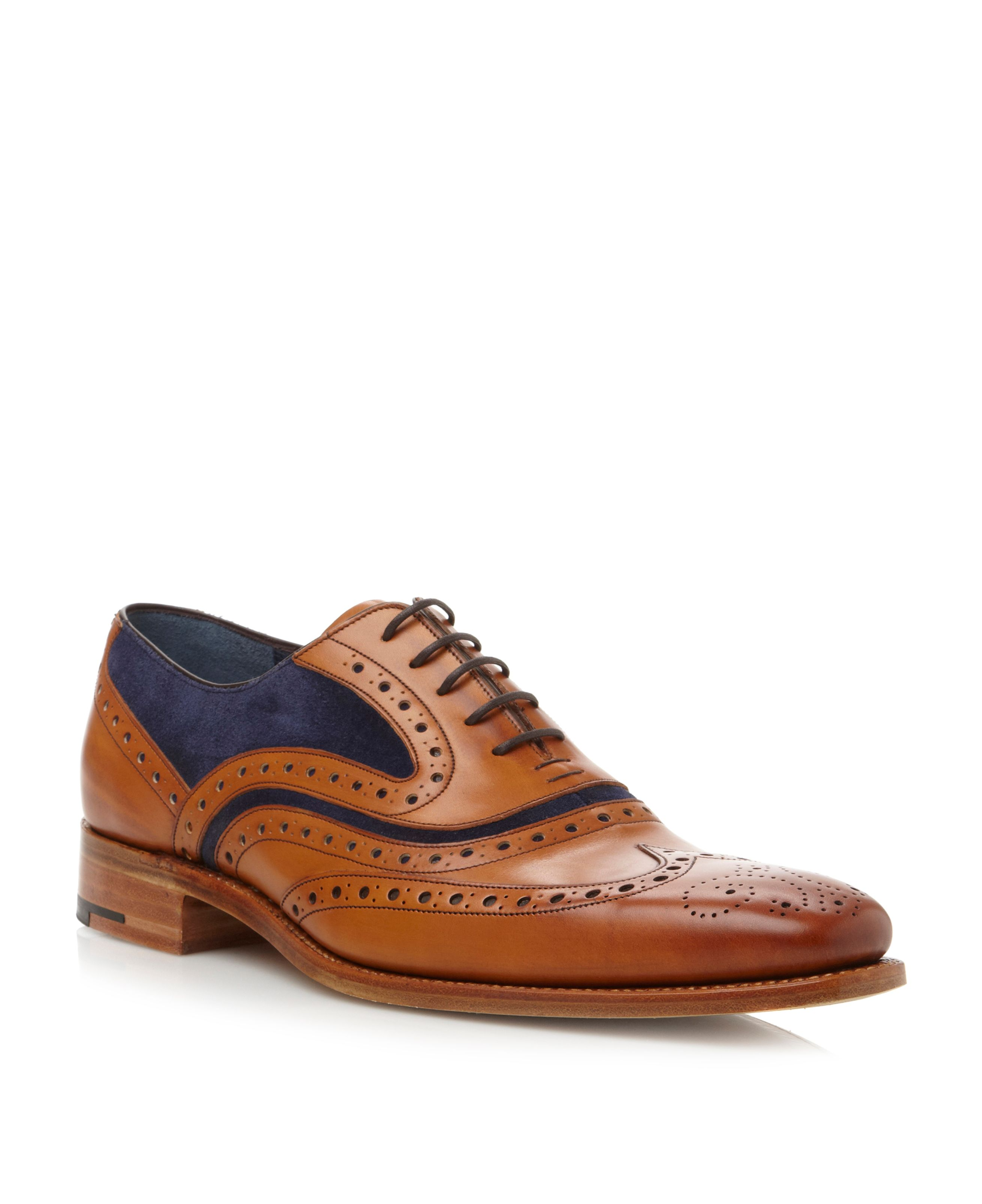 Mcclean lace up wingtip brogues