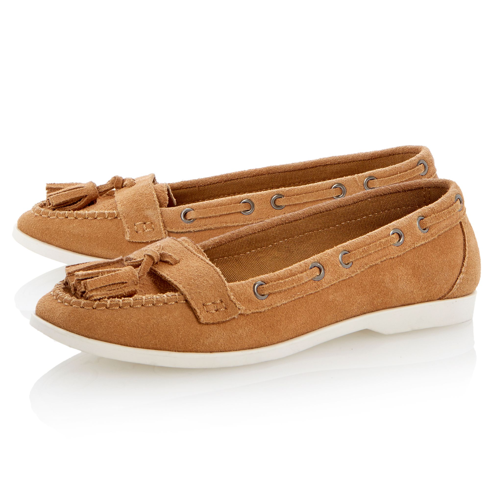 Lulah suede flat round toe boat shoes