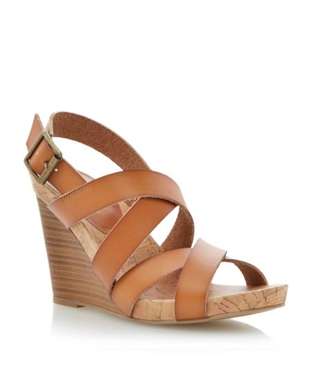 Linea Gumdrop wedge heel sandals