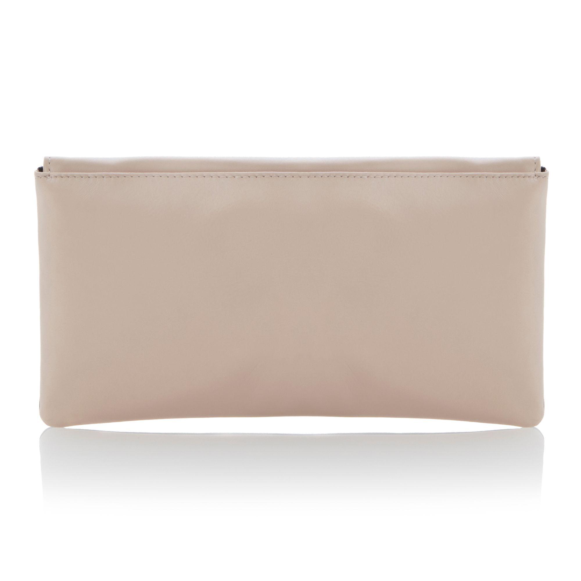Blushful fold over colour block clutch bag