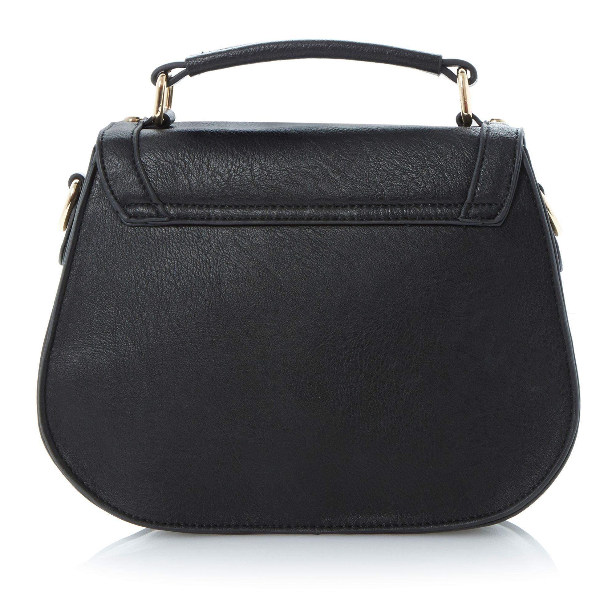 Laddia buckle trim saddle bag