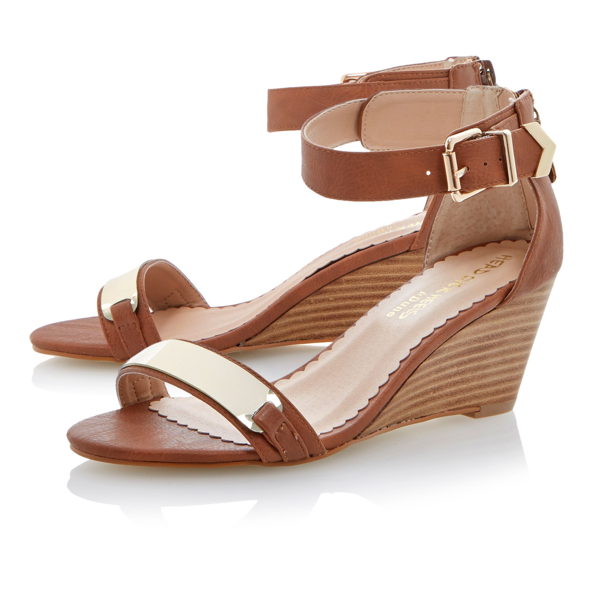 Genee wedge buckle sandals