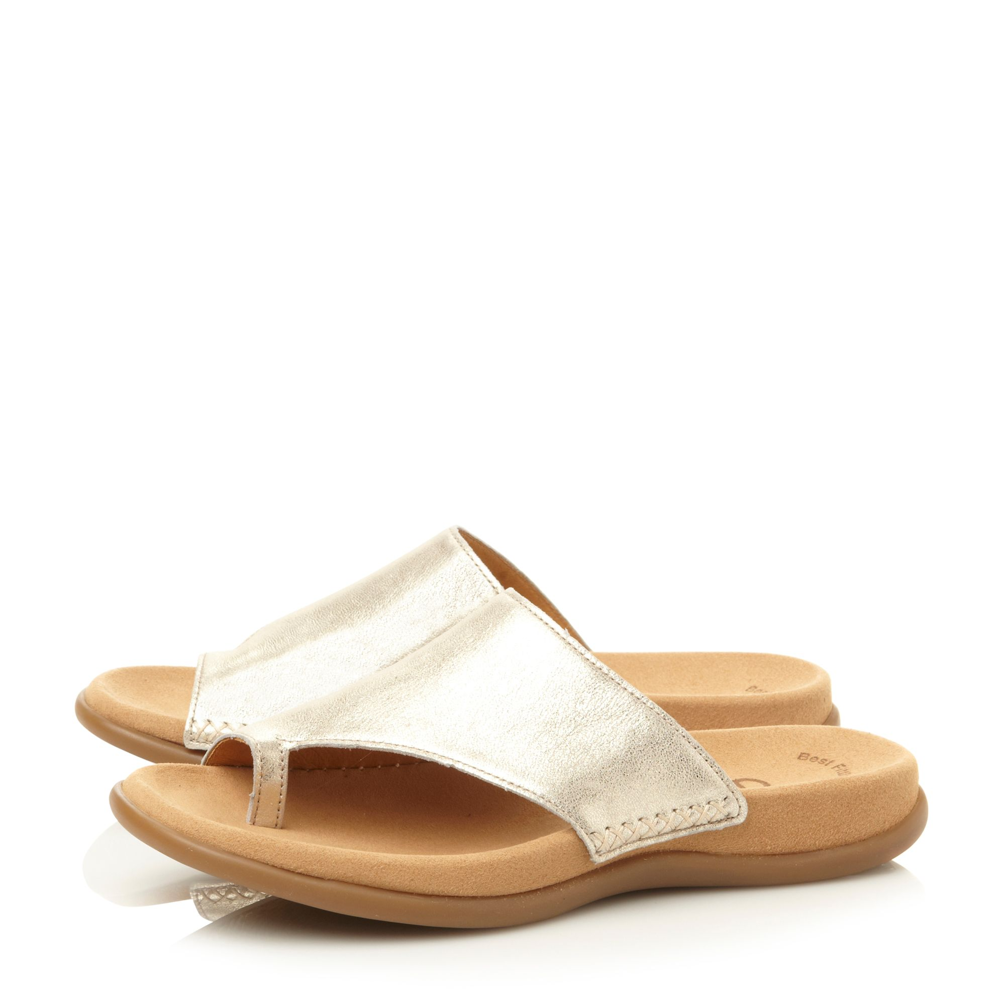 Lanzarote round toe loop footbed sandals