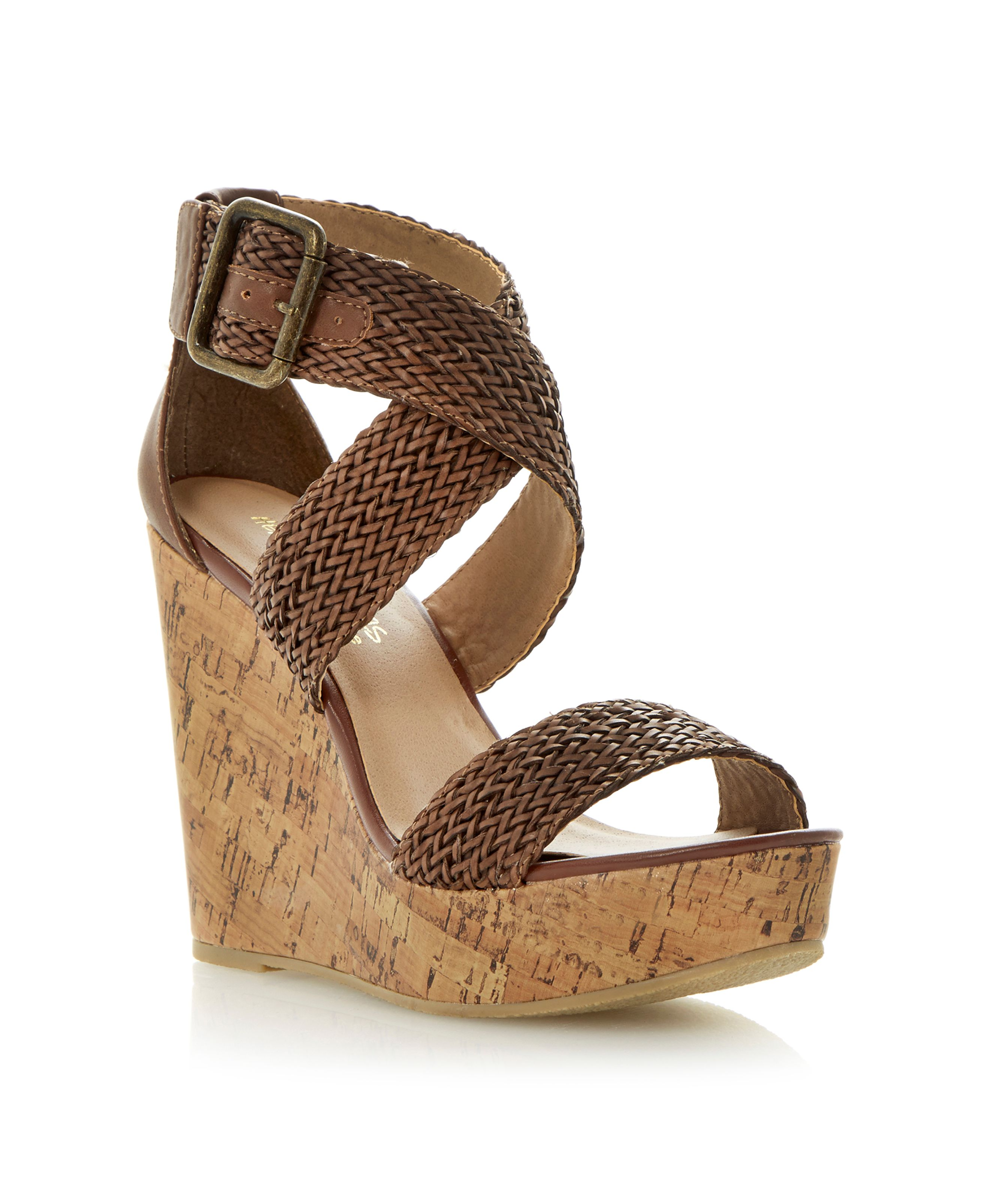 Garner wedge heel buckle sandals