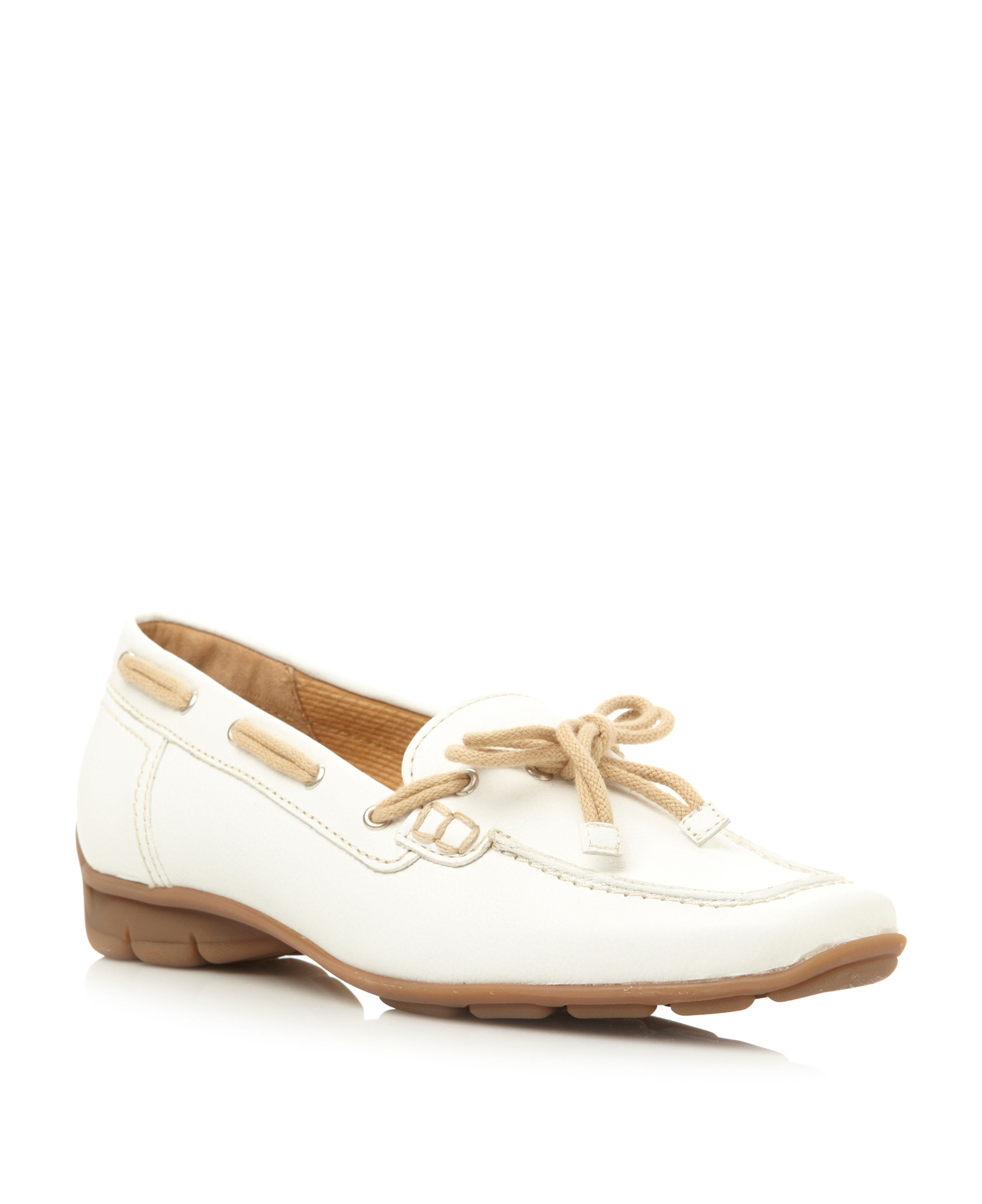 Obern round toe flat lace loafer shoes