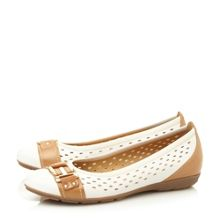Frances laser cut mary jane loafer shoes