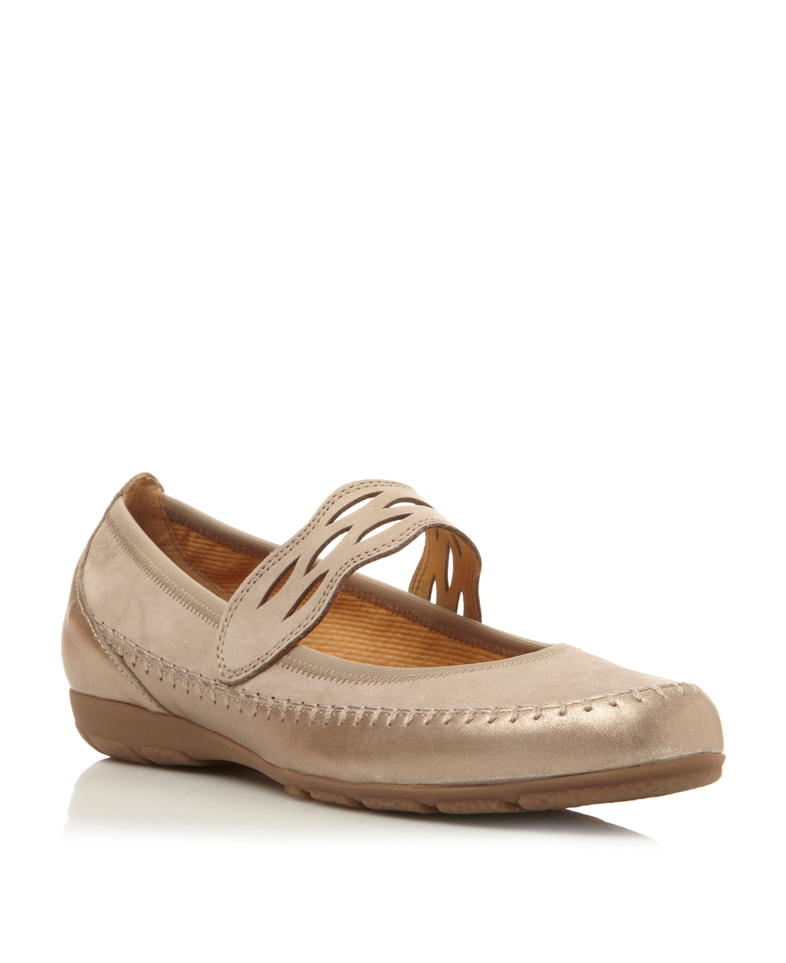 Frances leather round ballerina shoes