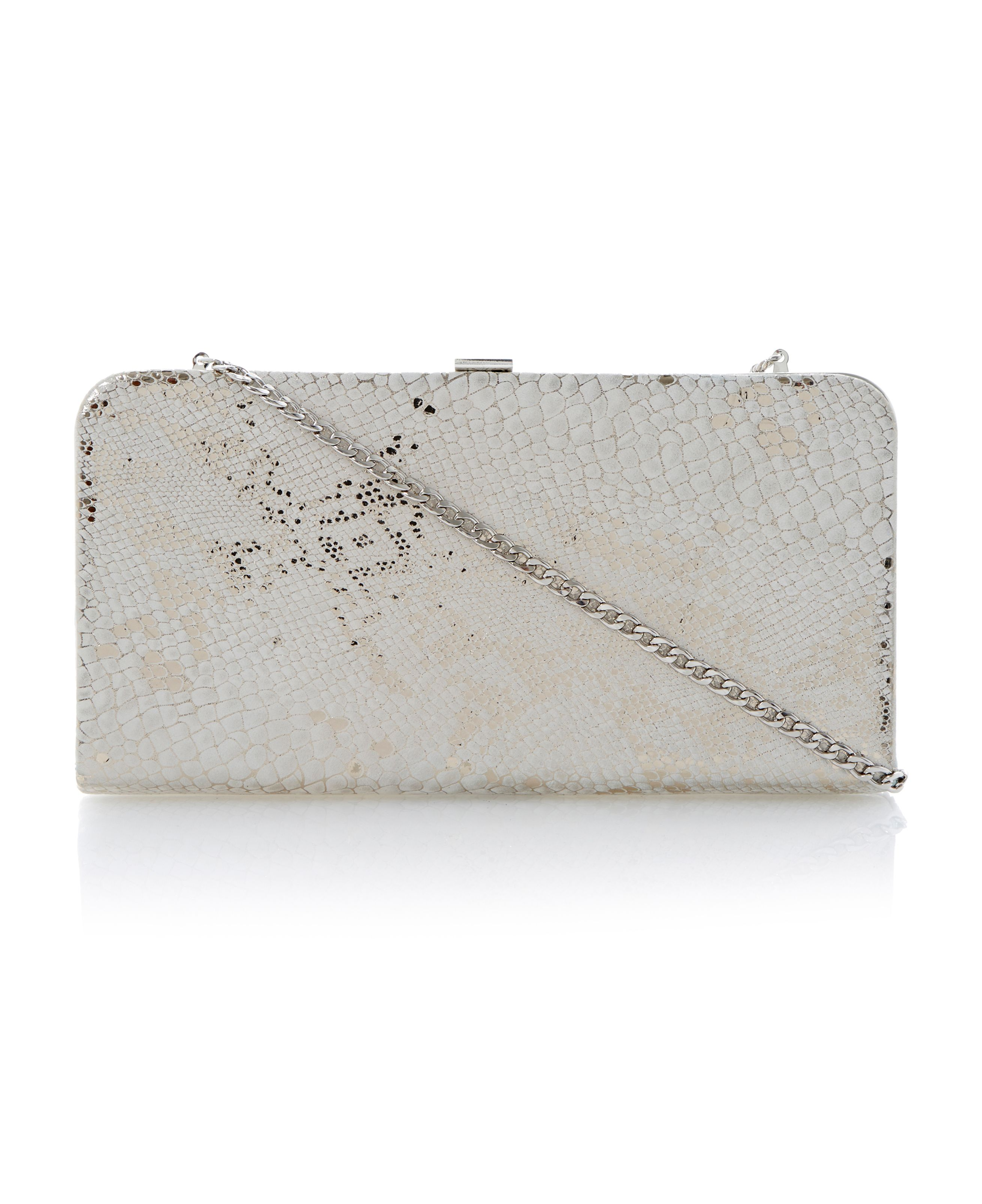 Ballie snake print leather clutch bag