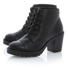 Pavelle lace up cleated sole boots