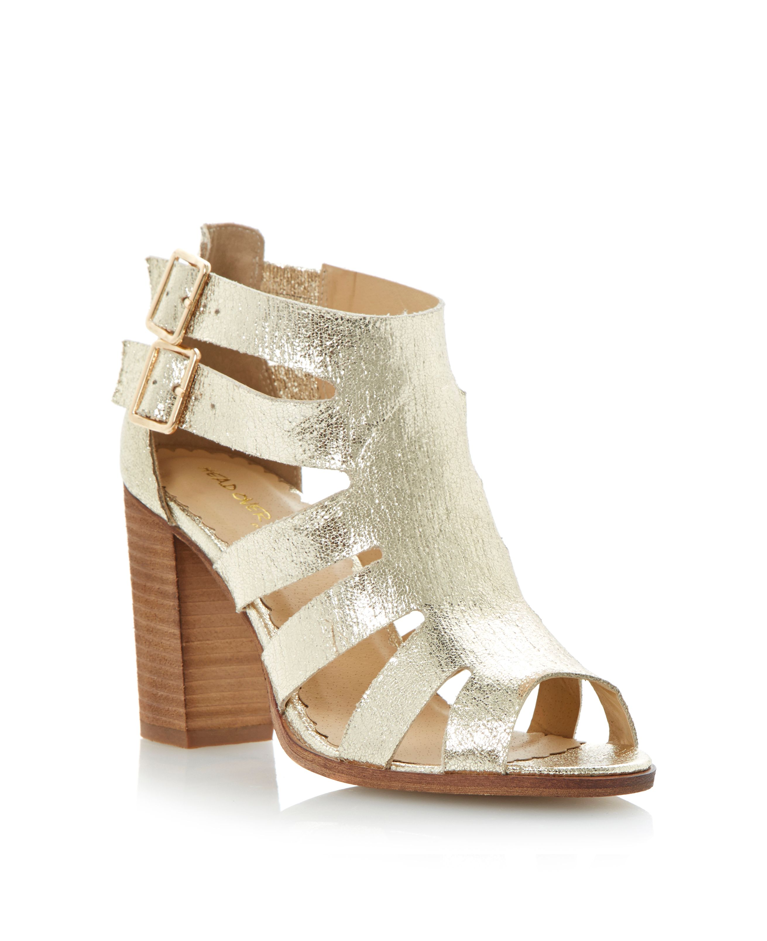 Gazelle cut out heeled gladiator sandals