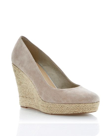 Linea Antipasto suede espadrille wedge court shoes