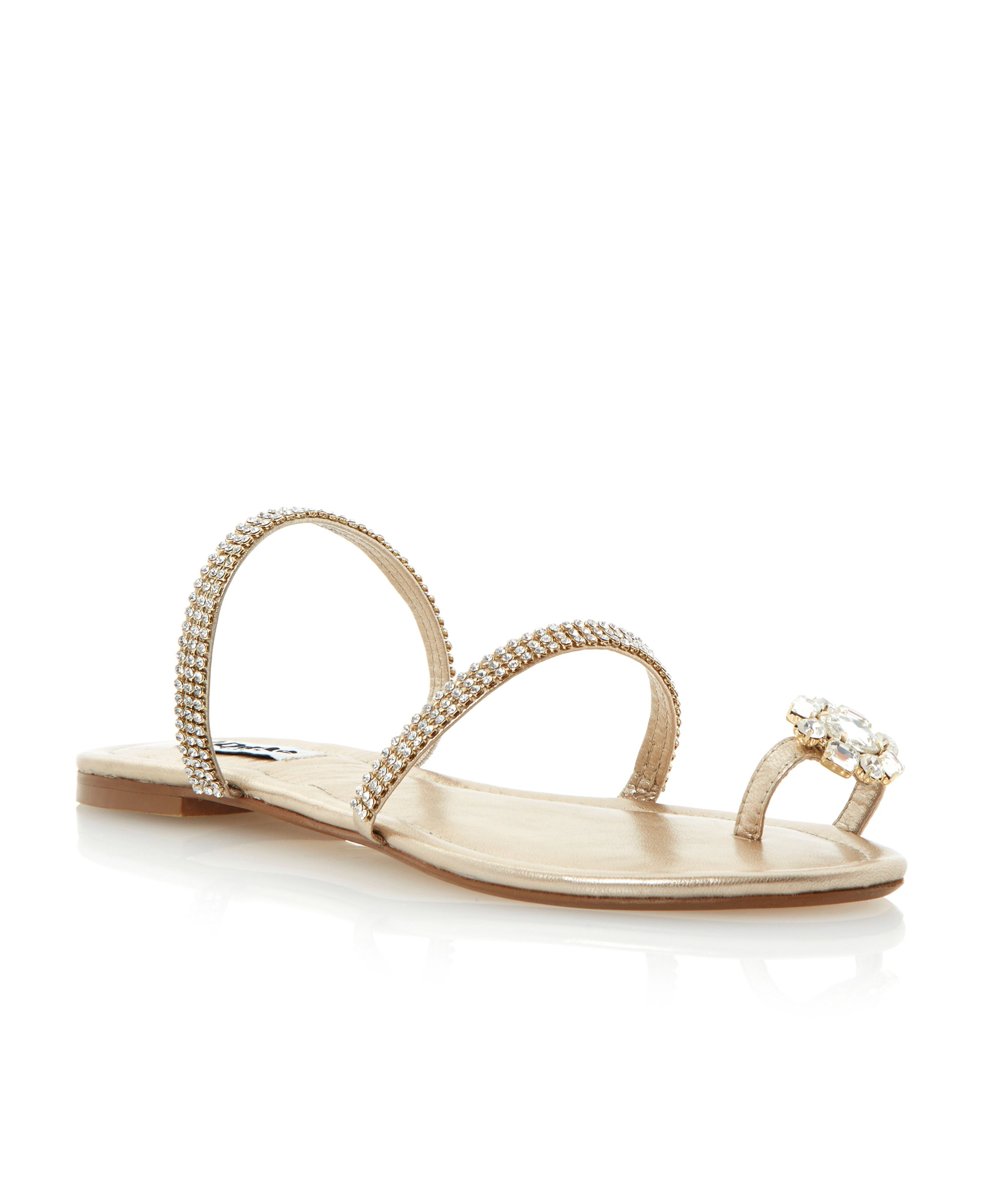 Kate leather flat dressy sandals