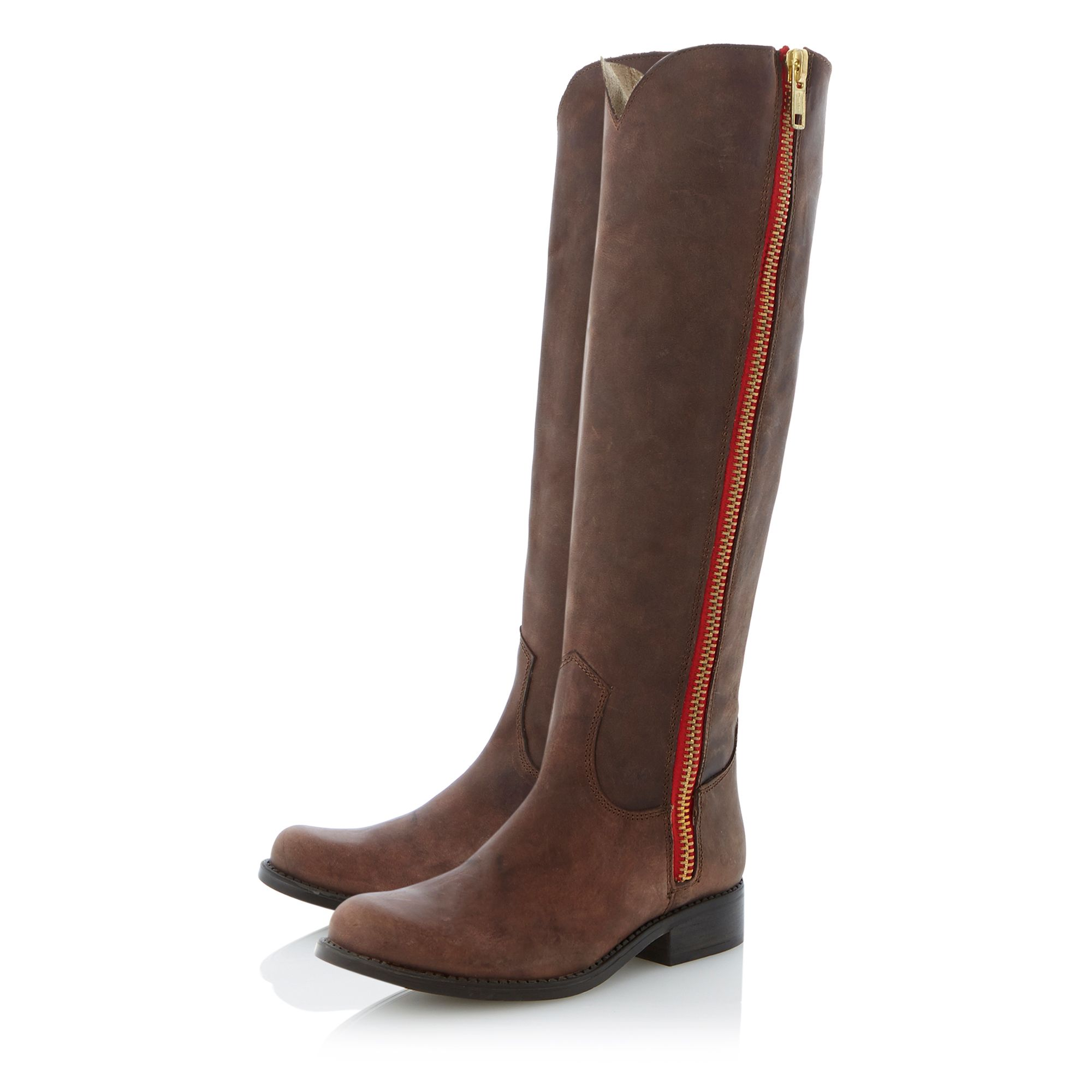 Ruse coloured zip boots