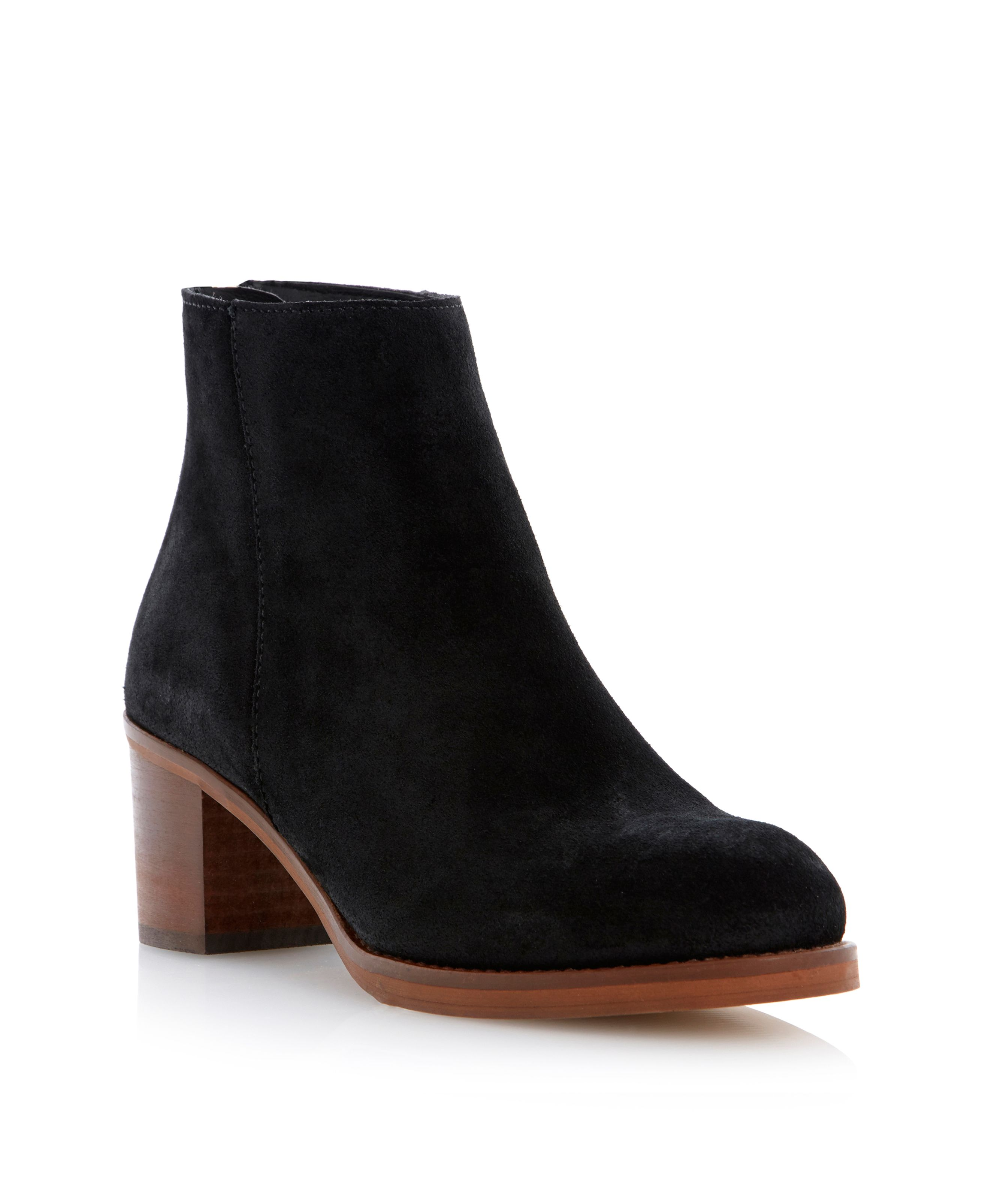 Packer back zip ankle boots