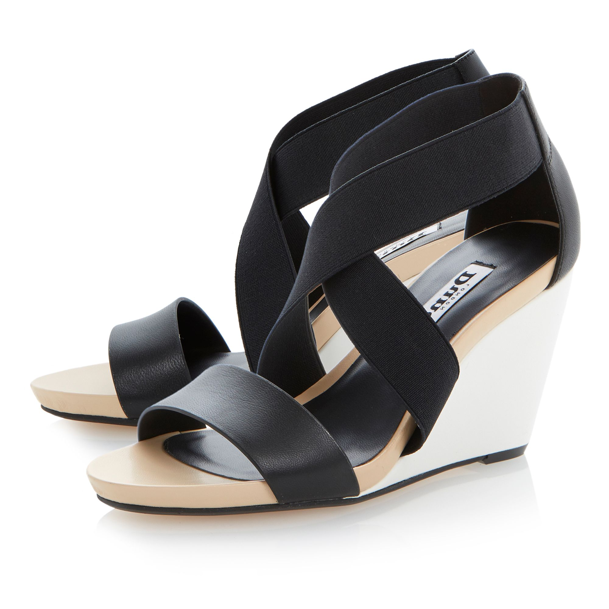 Georgey colour block wedge sandals