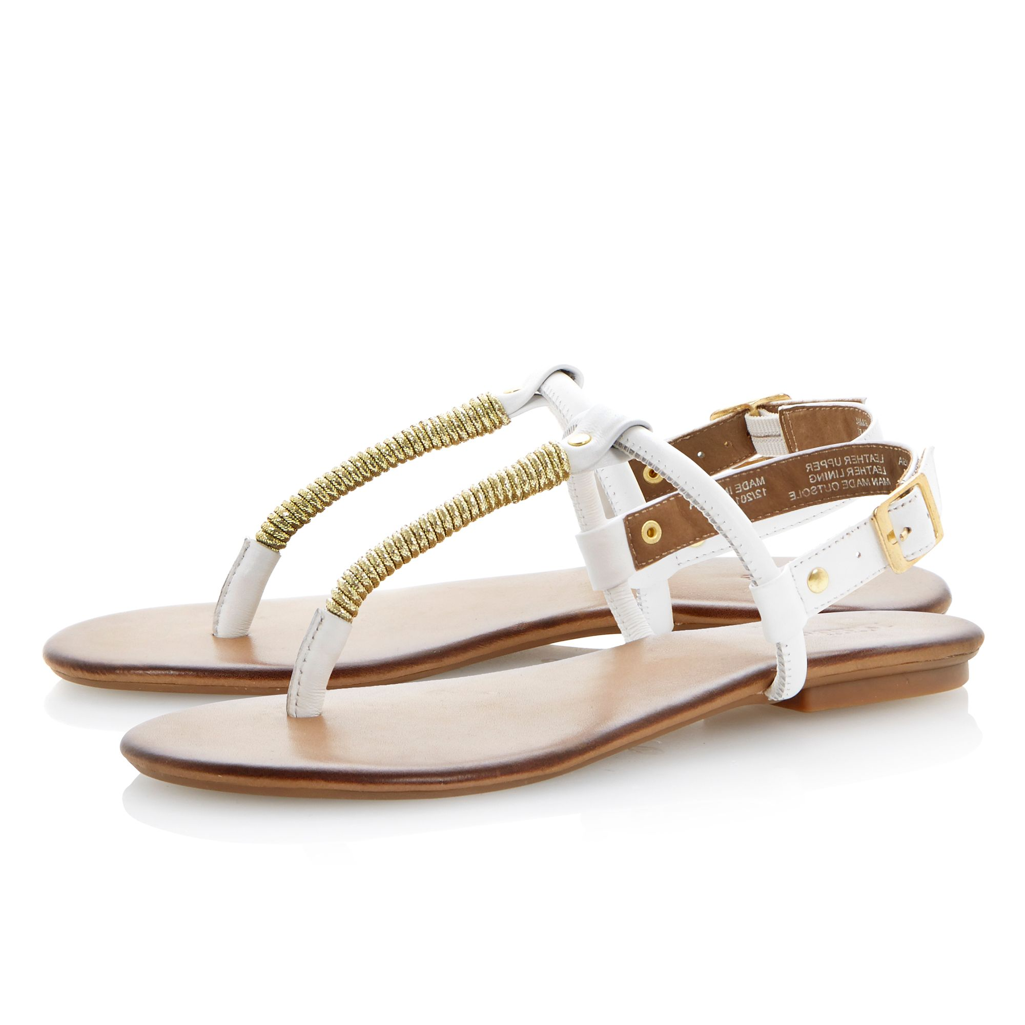 Jamba buckle leather flat sandals