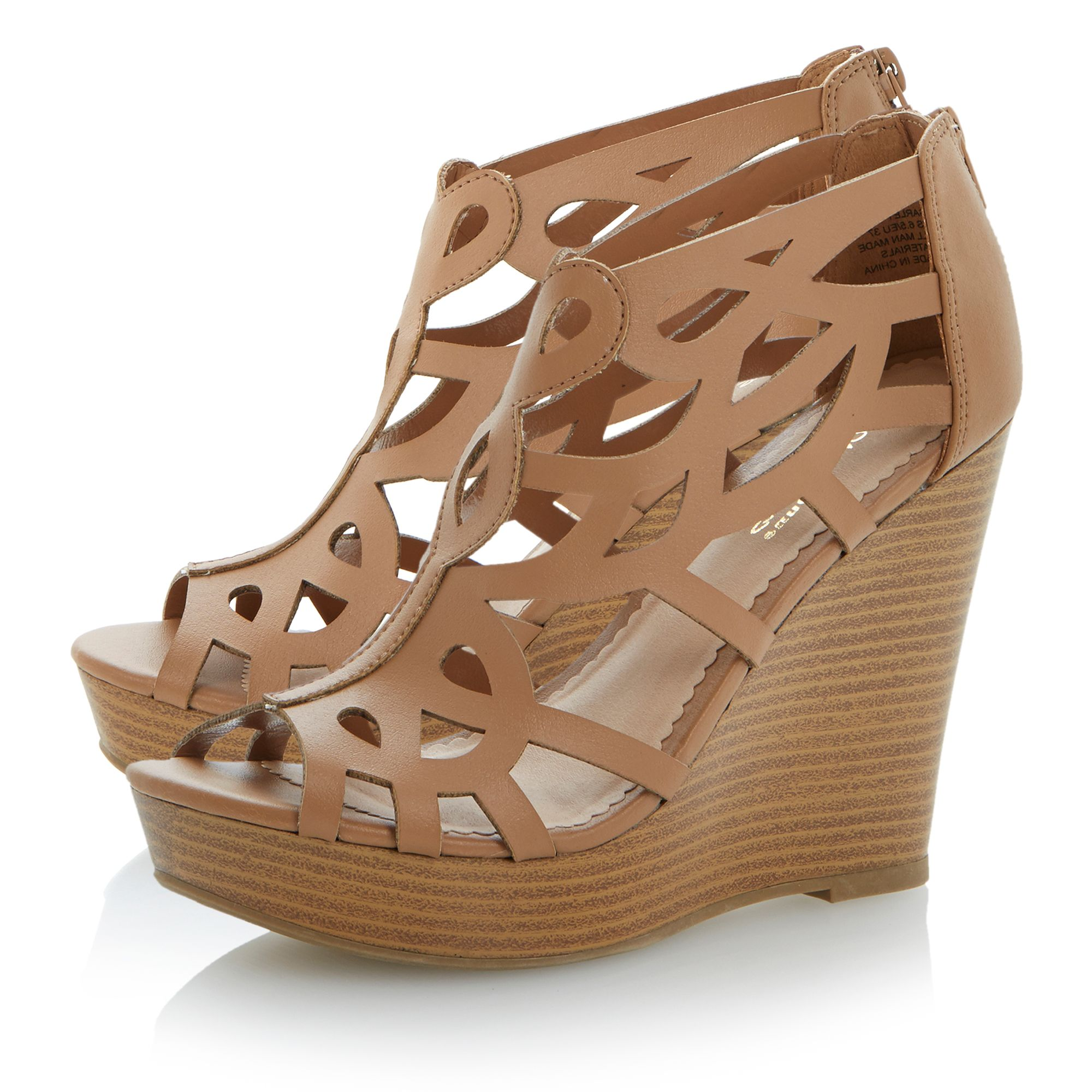 Garley wedge zip sandals