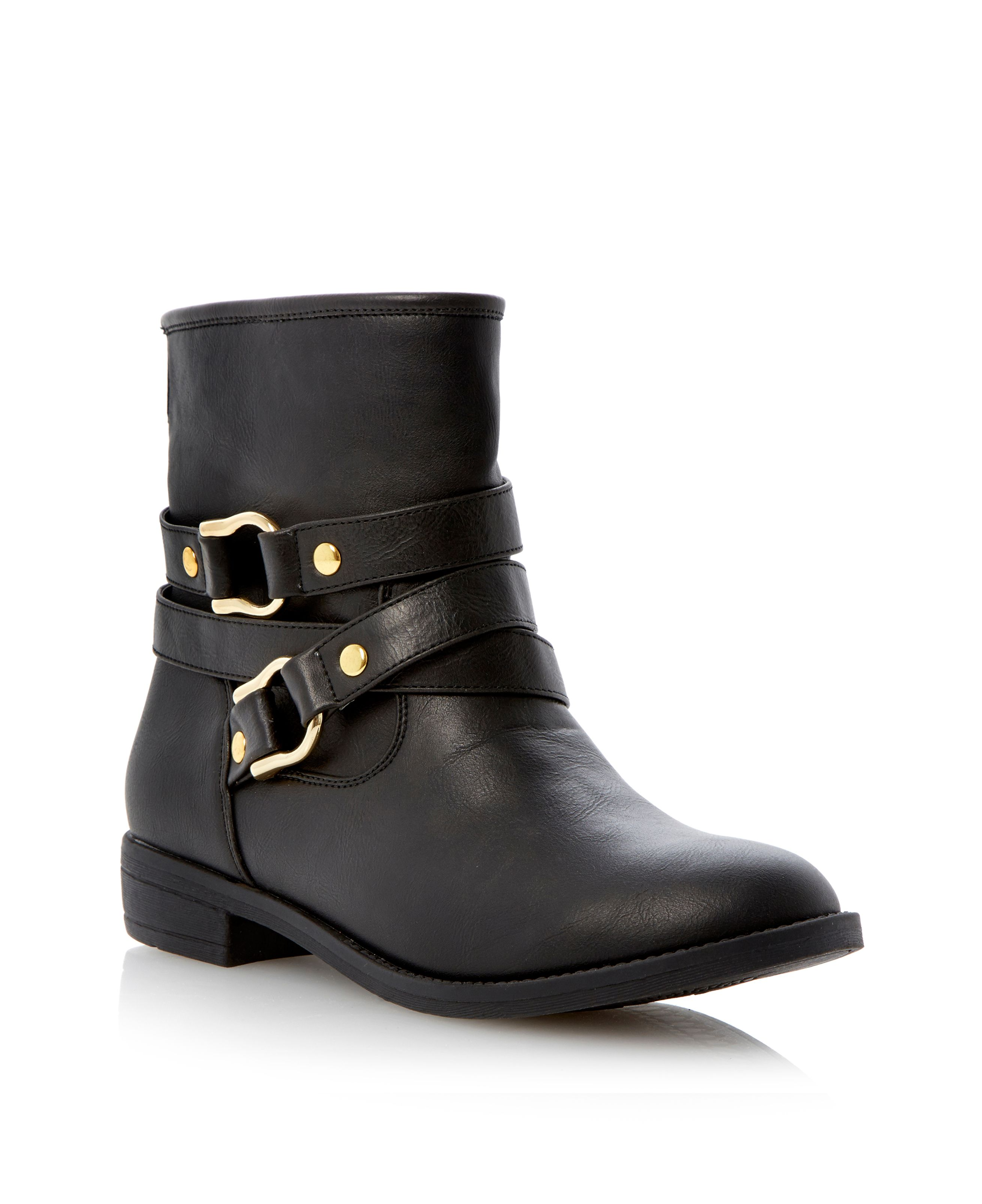 Parkaa wrap around strap detail ankle boots