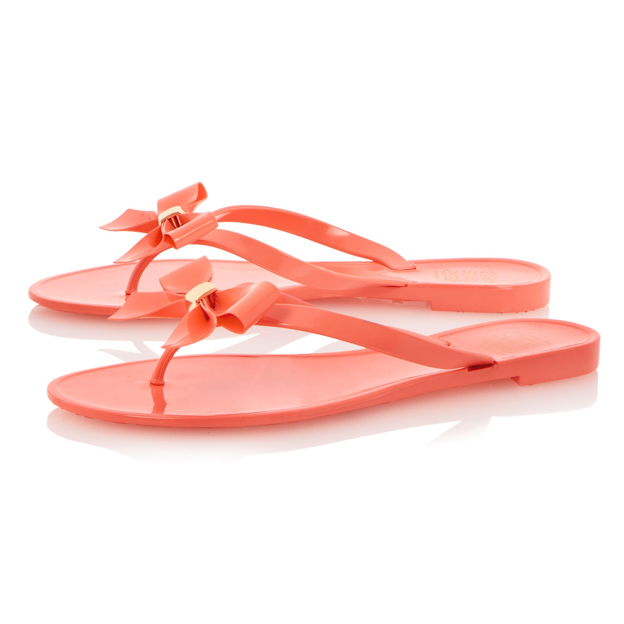 Jupes jelly toe post flat sandals