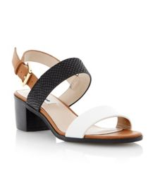 Finchy leather block heel buckle sandals