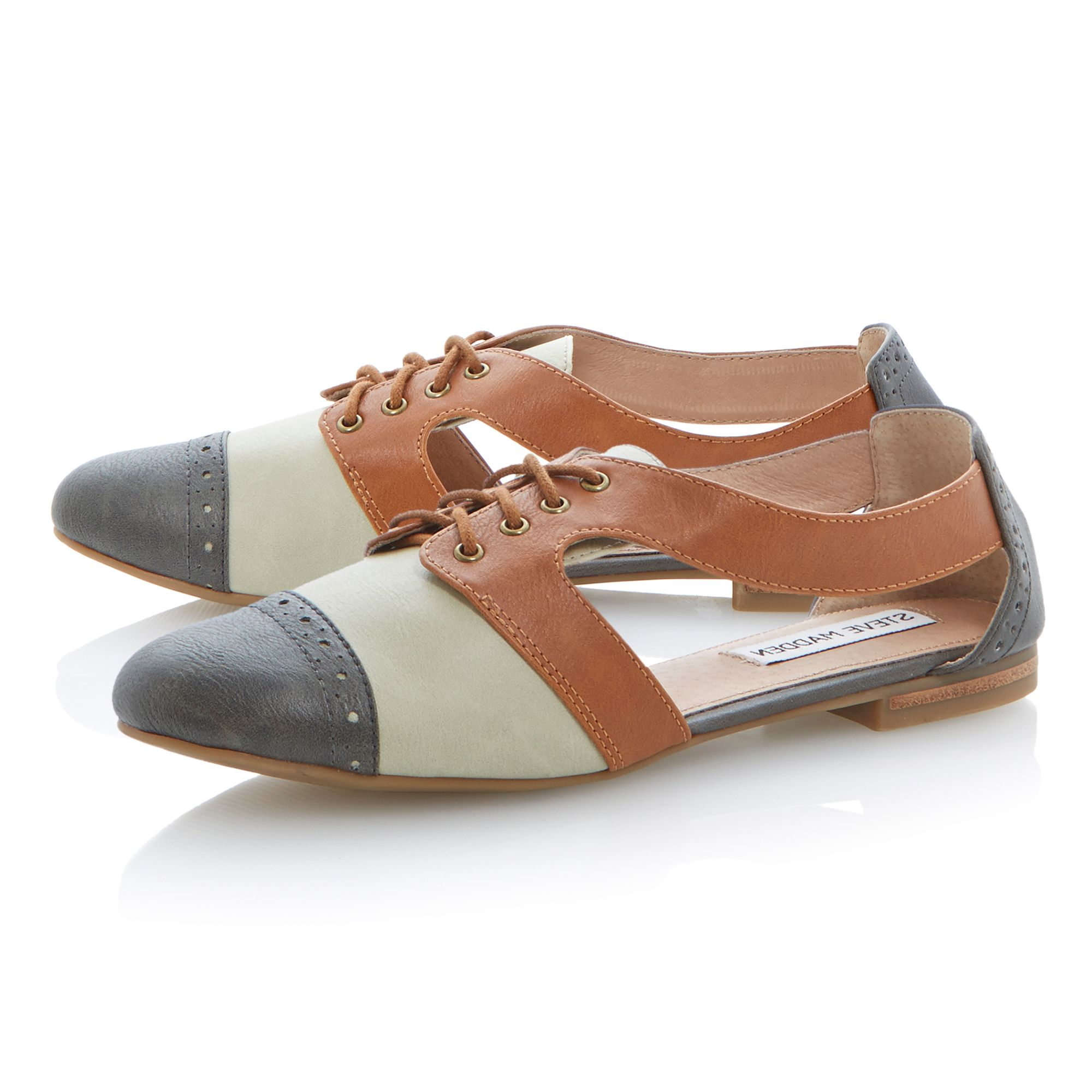 Cori almond toe flat Oxford shoes