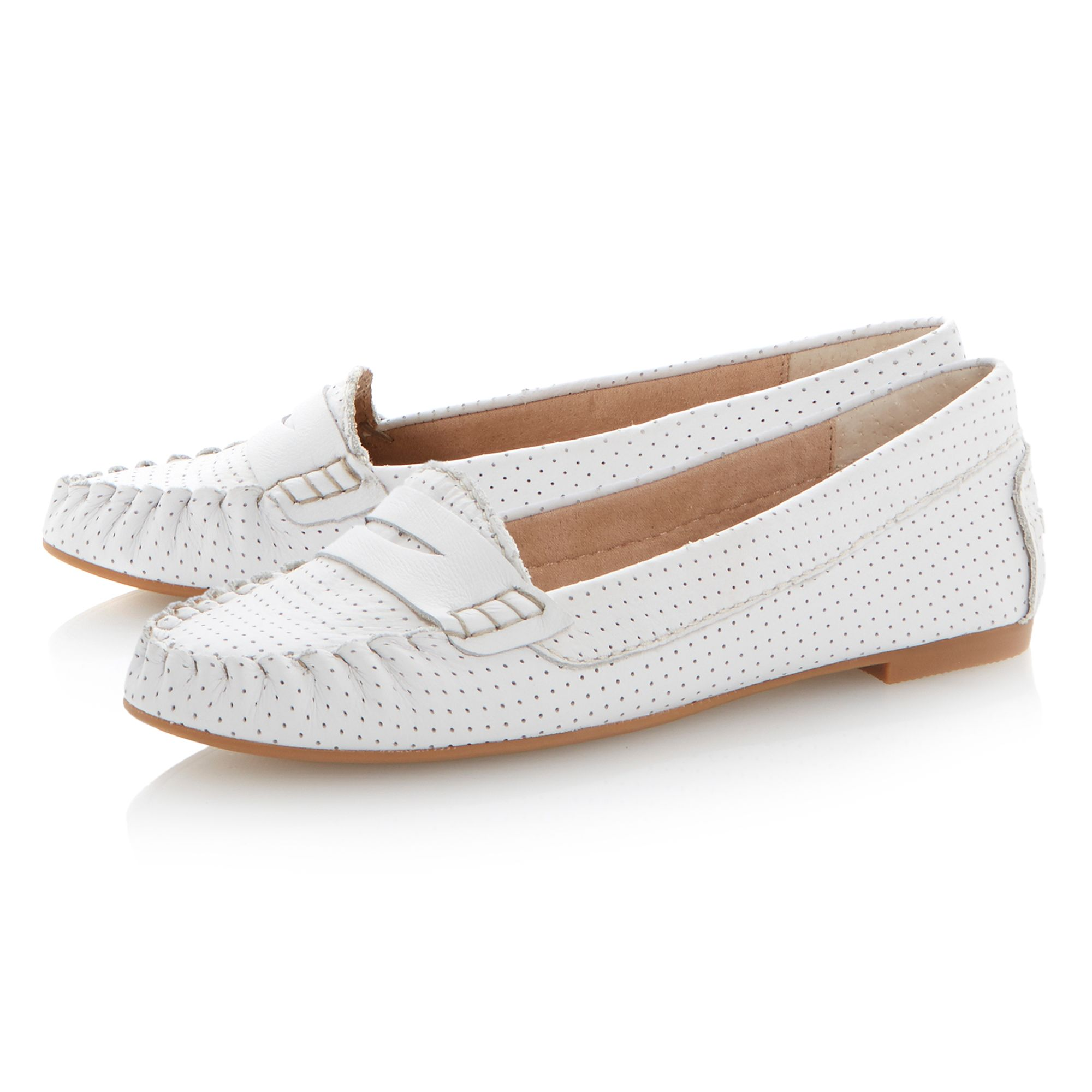 Murphey saddle flat loafer shoes