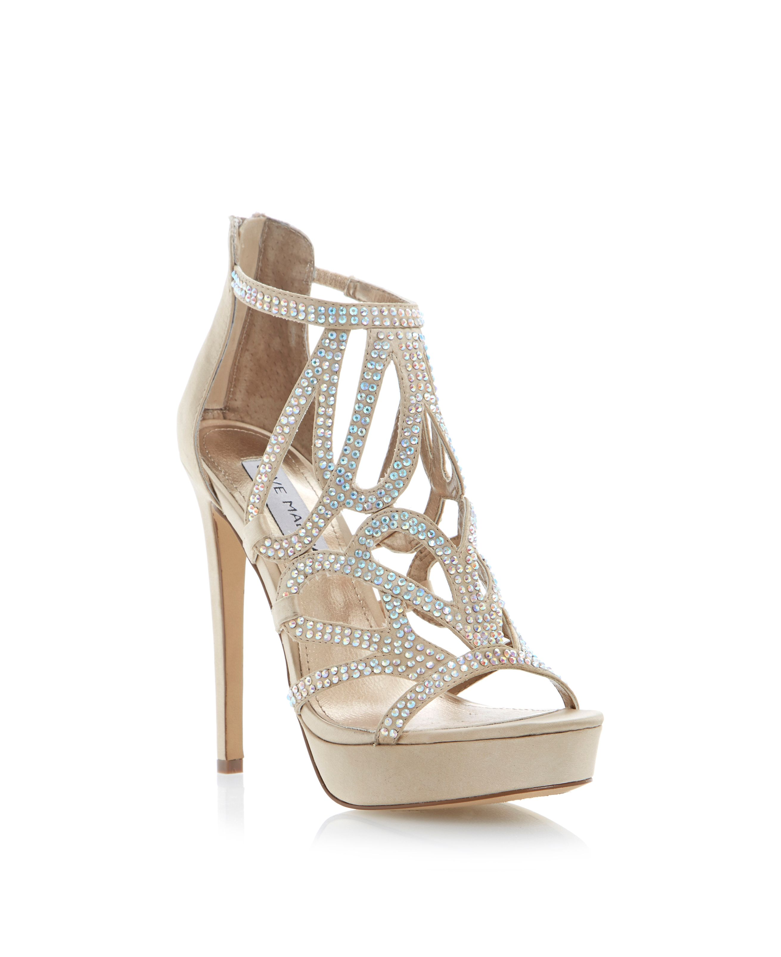 Singer diamante strappy stiletto sandals