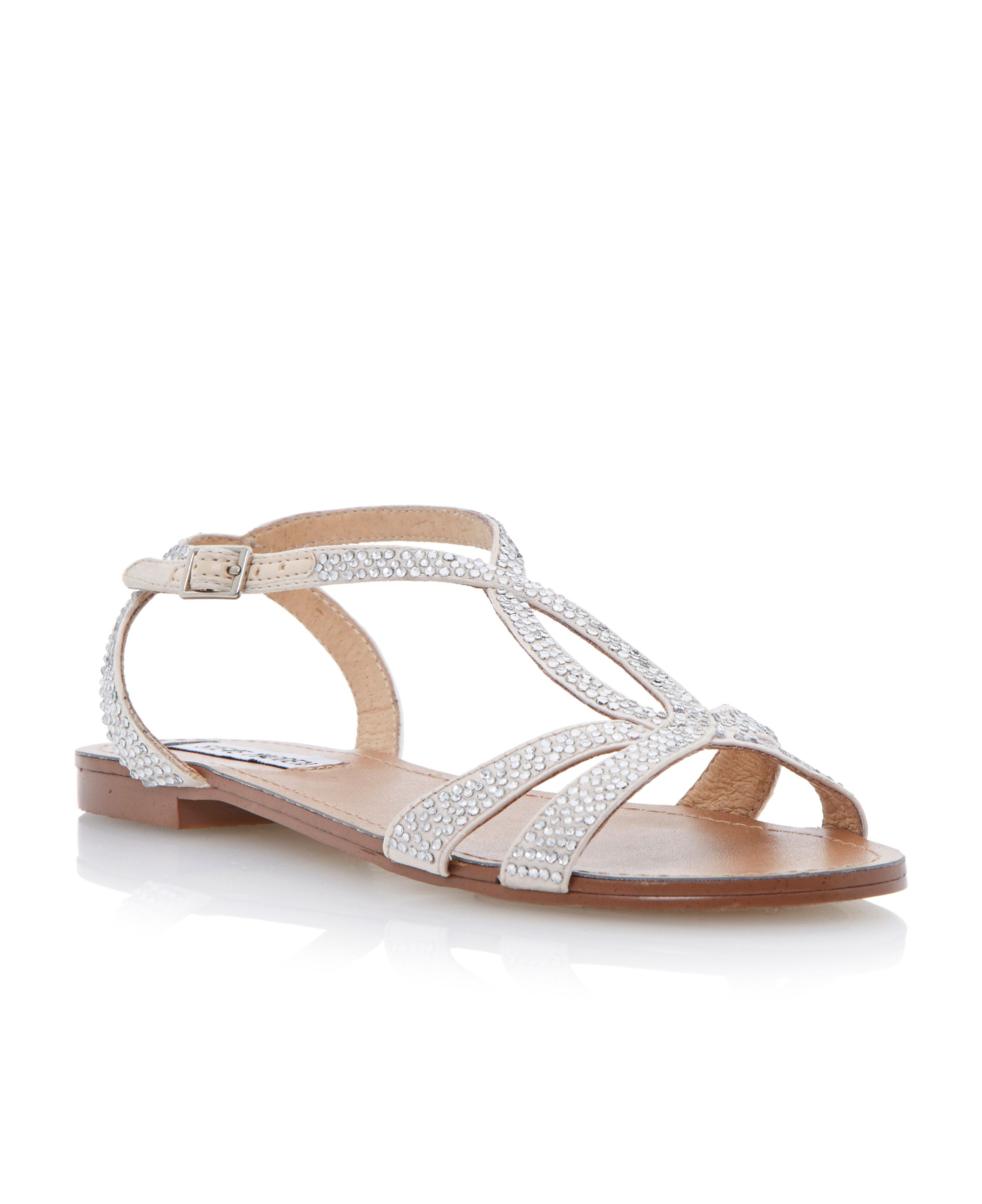 Starrz diamante crossover flat sandals