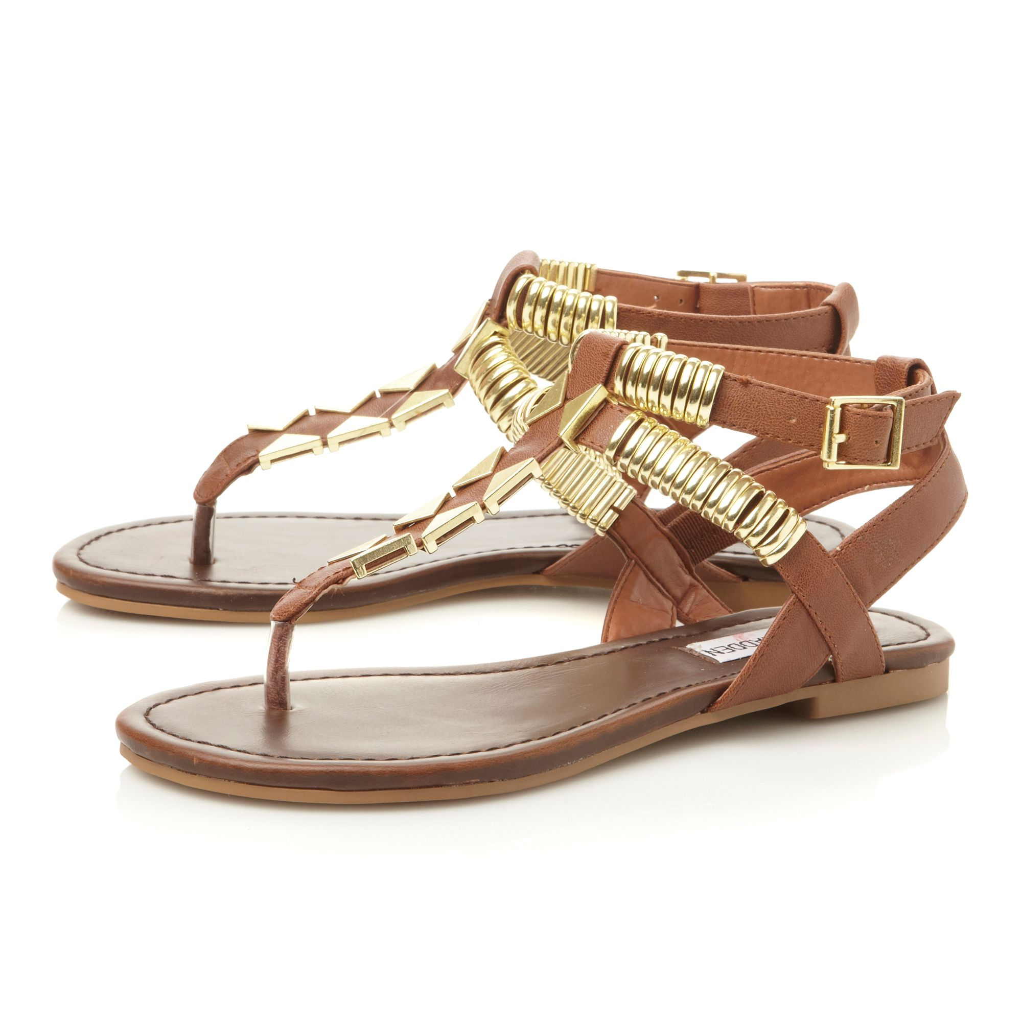 Invision metal hardware sandals