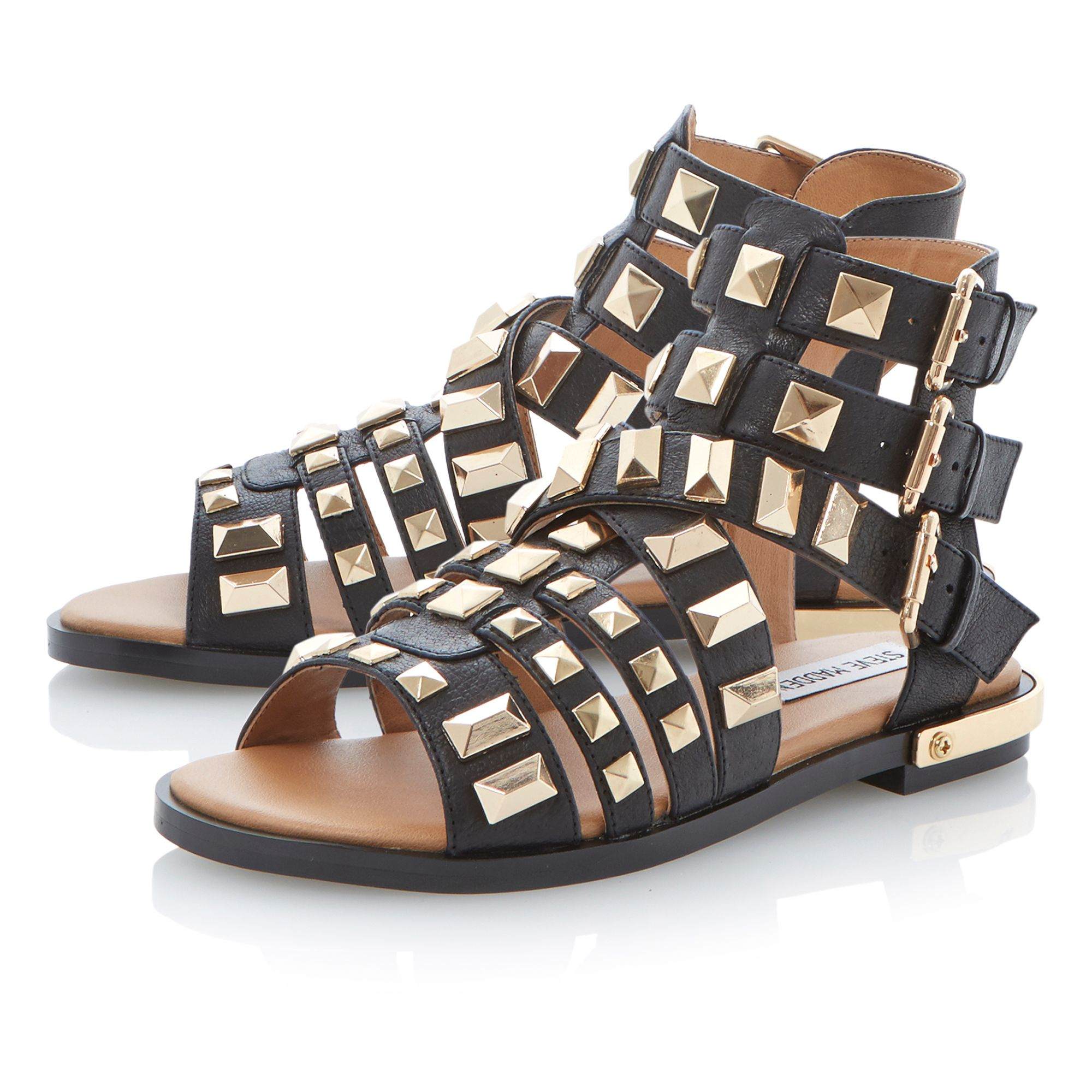 Herra leather triple buckle sandals