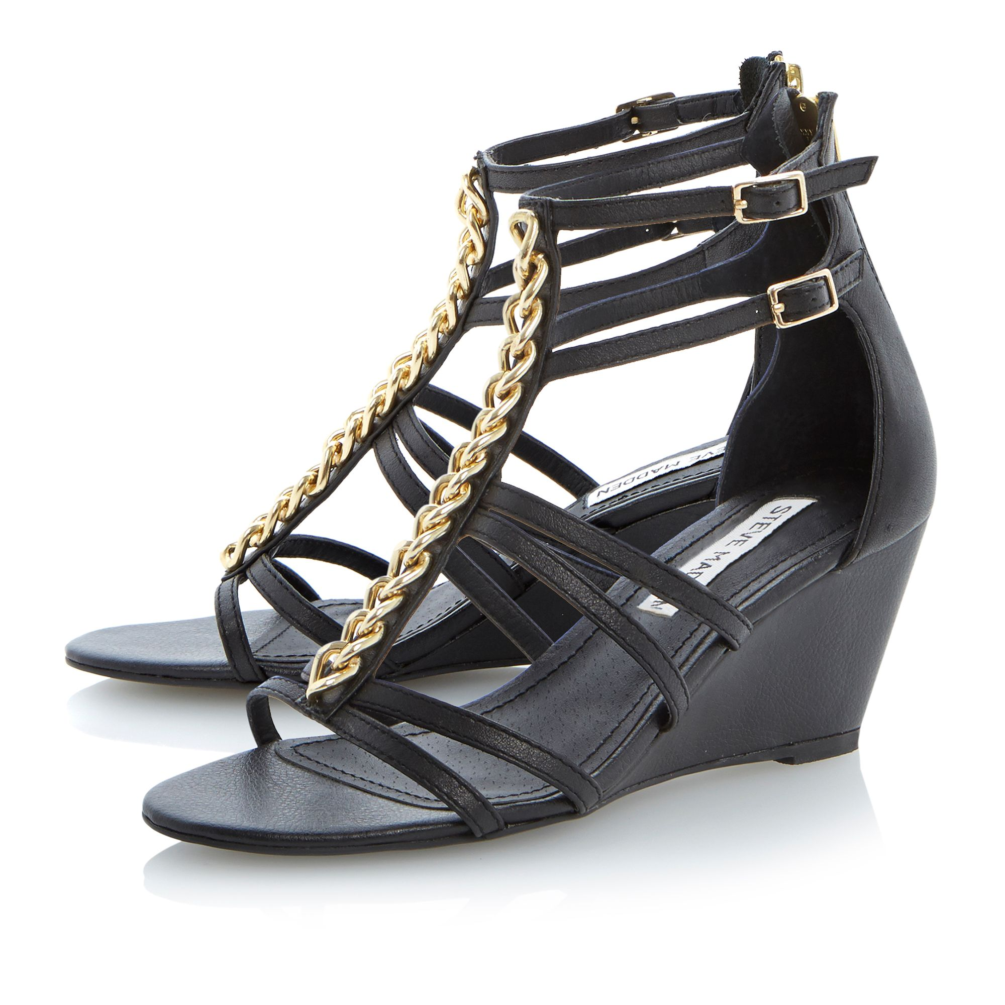 Nataly leather wedge sandals