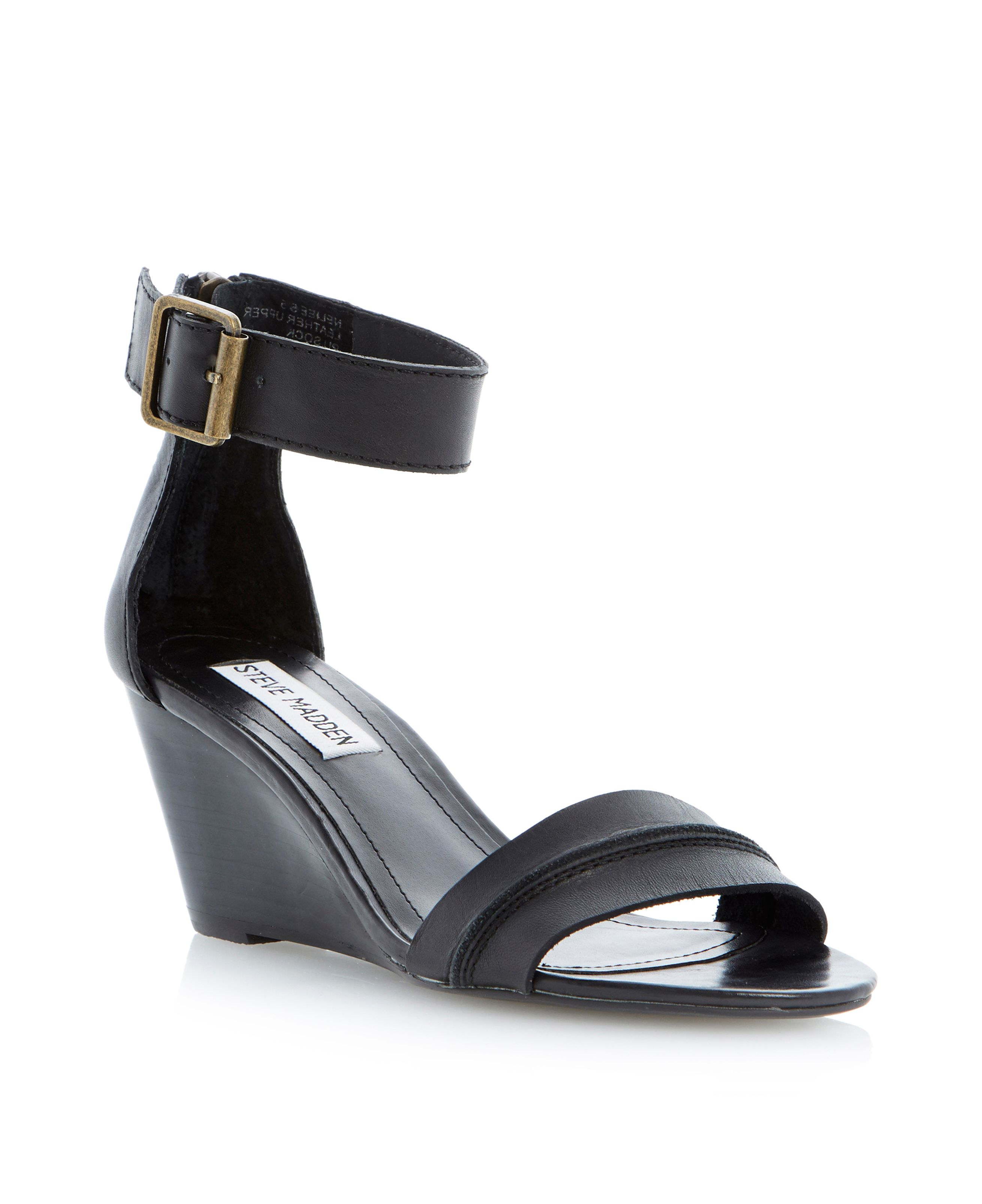 Neliee buckle ankle strap wedge sandals