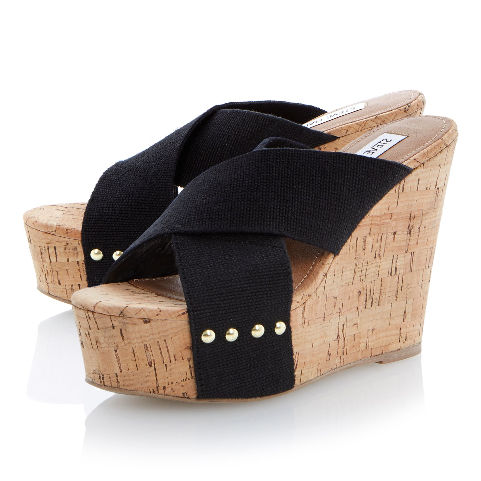 Pride faux cork wedge sandals